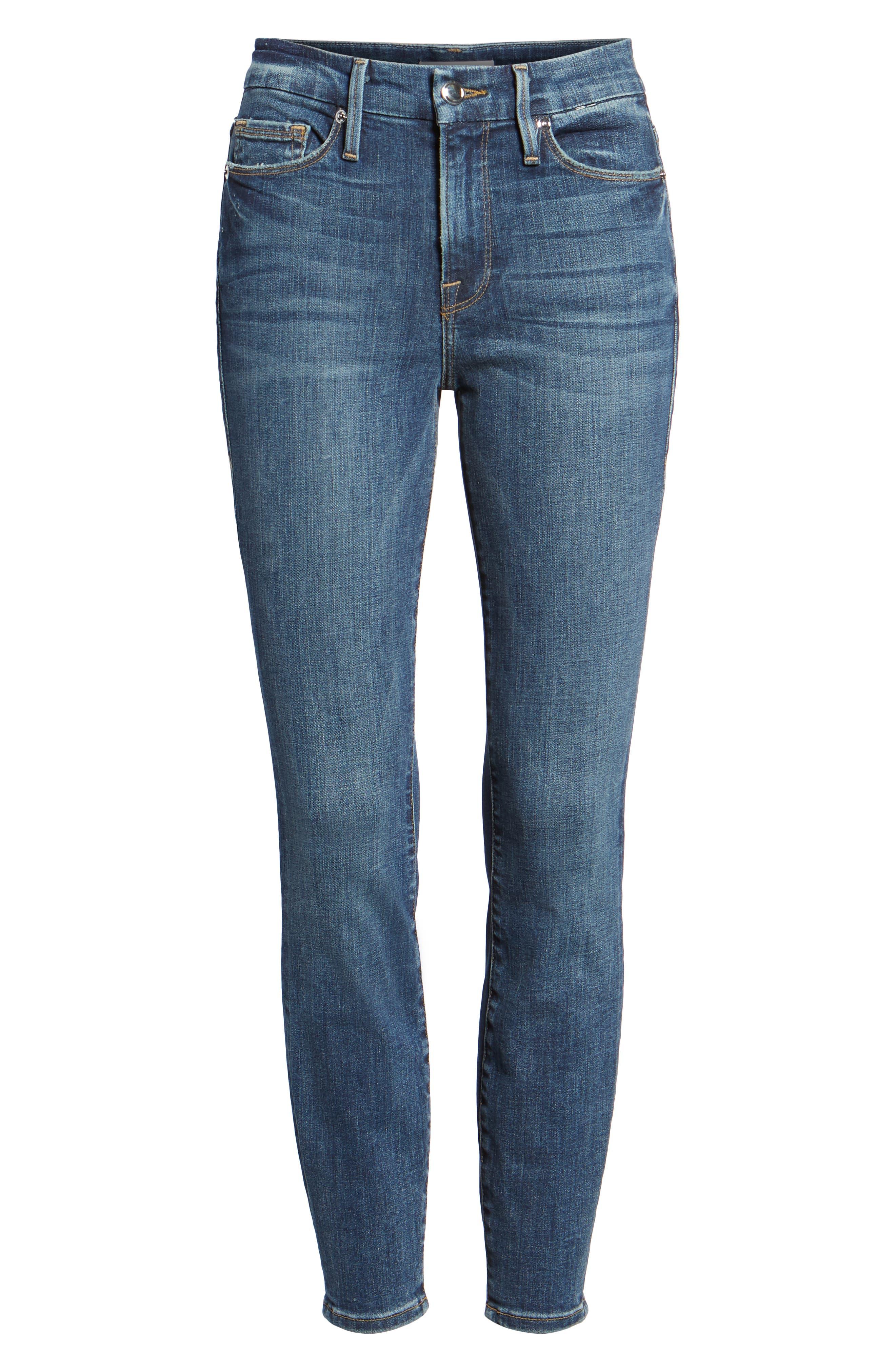Crop high waist Skinny Jeans blue