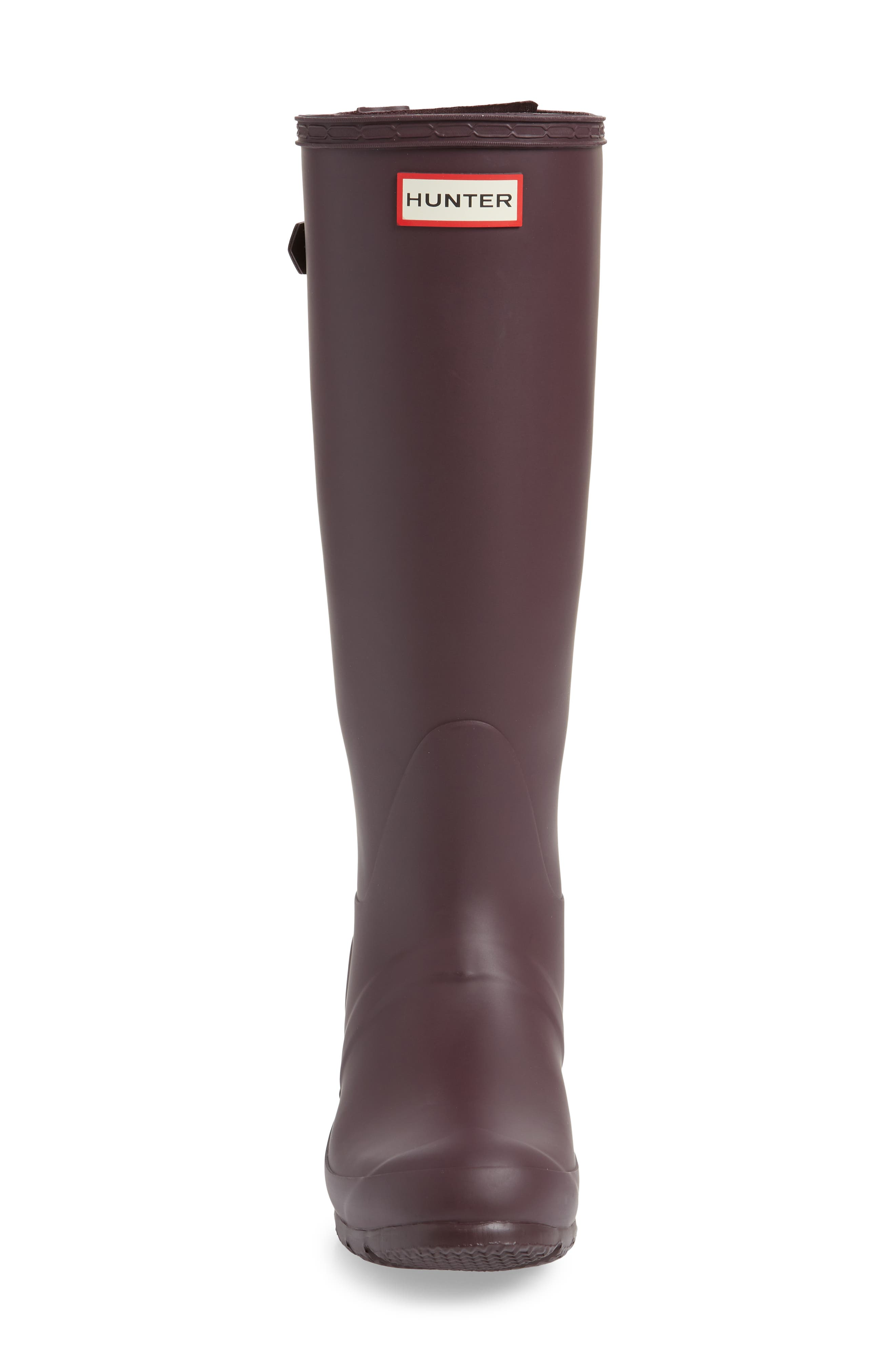 Original Tall Adjustable Back Waterproof Rain Boot,                             Alternate thumbnail 4, color,                             BLACK GRAPE