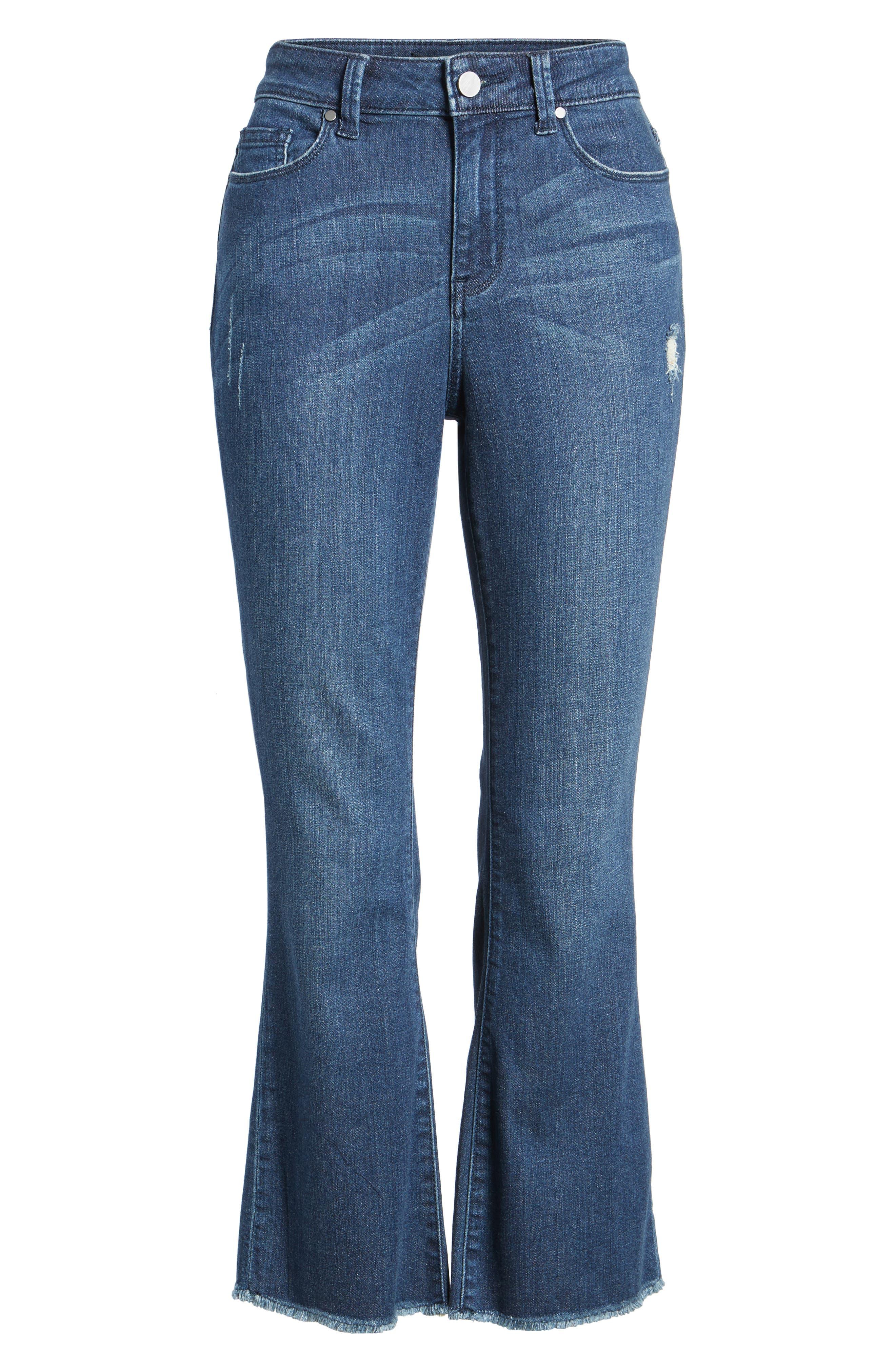 Kick Flare Jeans,                             Alternate thumbnail 6, color,                             400