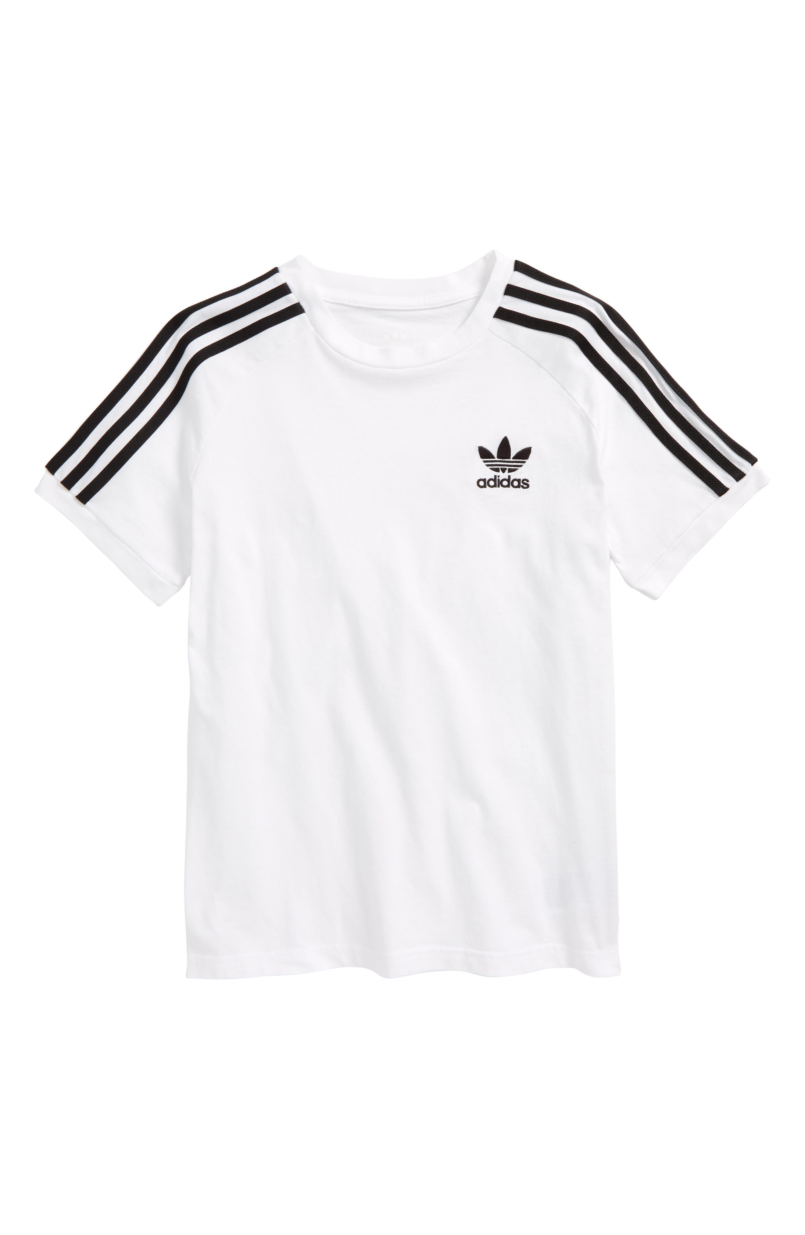 California T-Shirt,                         Main,                         color, WHITE/ BLACK