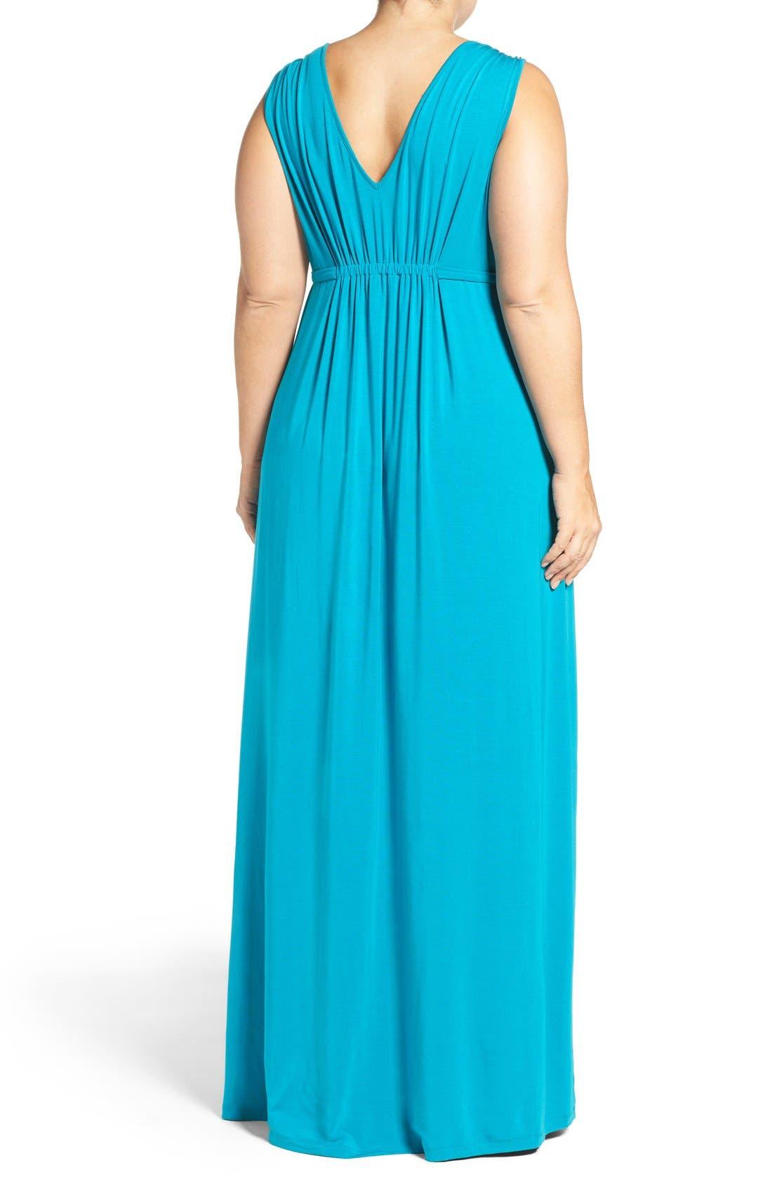 Grecia Sleeveless Jersey Maxi Dress,                             Alternate thumbnail 17, color,