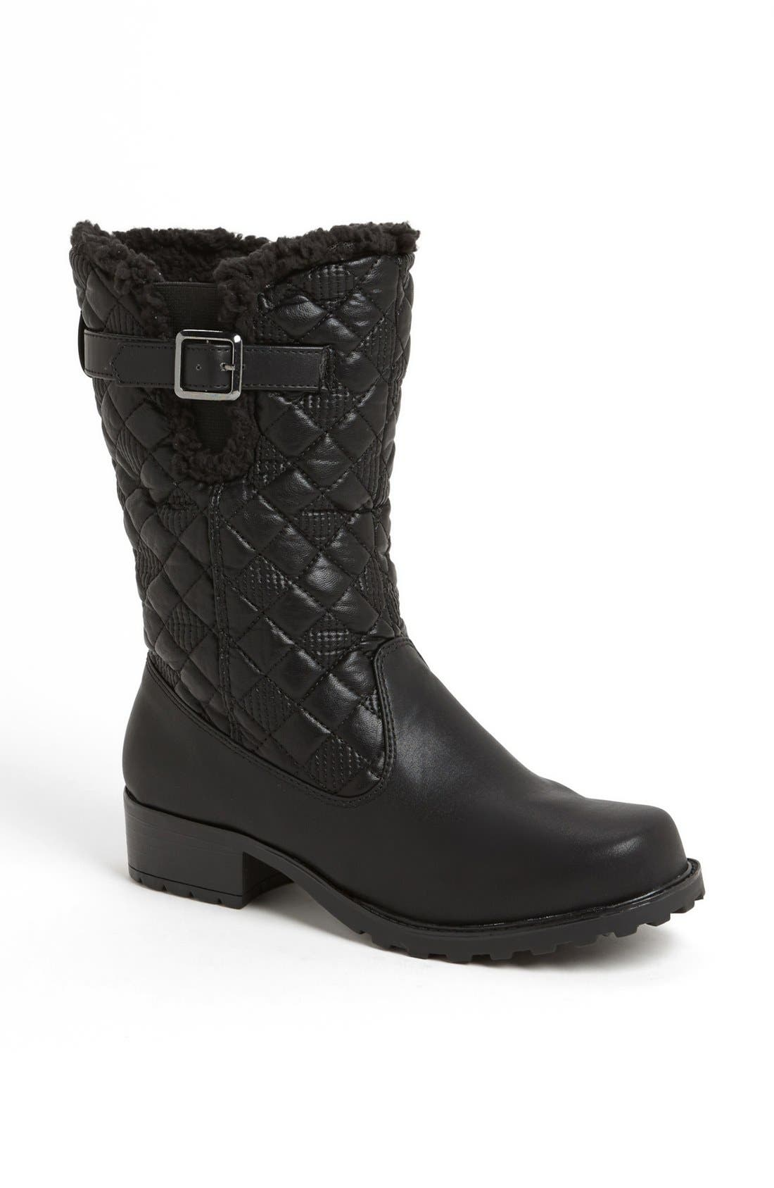 'Blizzard III' Boot,                         Main,                         color, BLACK FAUX LEATHER