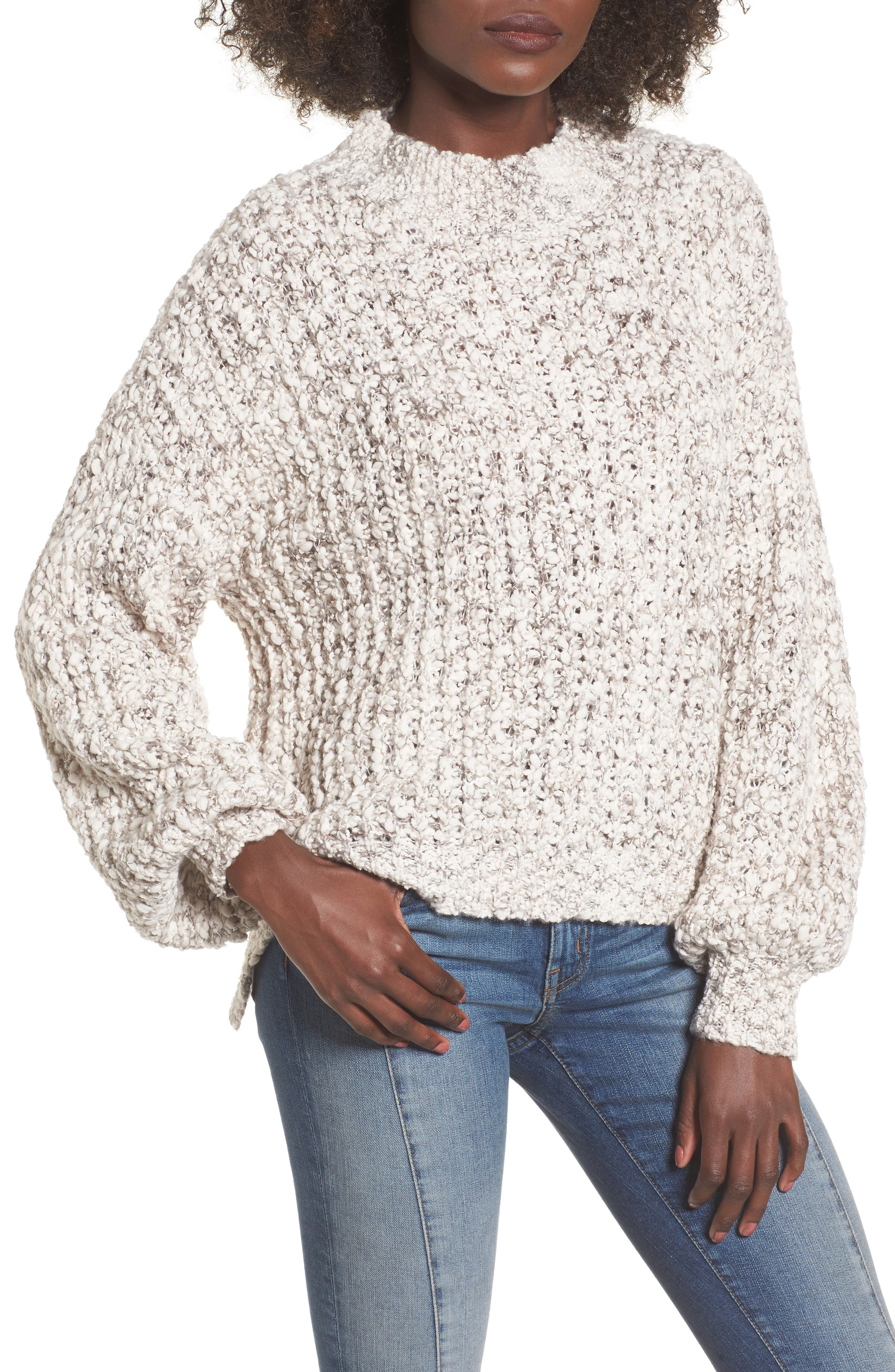 Chunky Knit Mock Neck Sweater,                         Main,                         color, 900