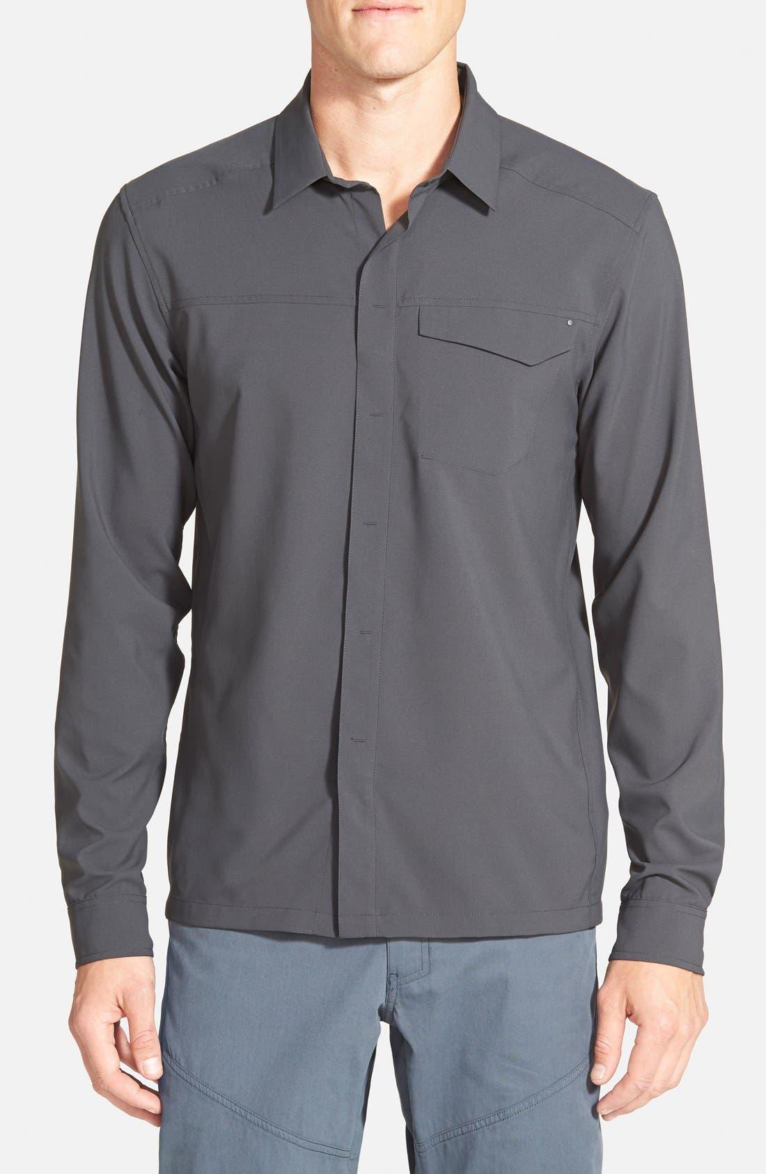 'Skyline' Trim Fit Sport Shirt,                             Main thumbnail 1, color,                             030