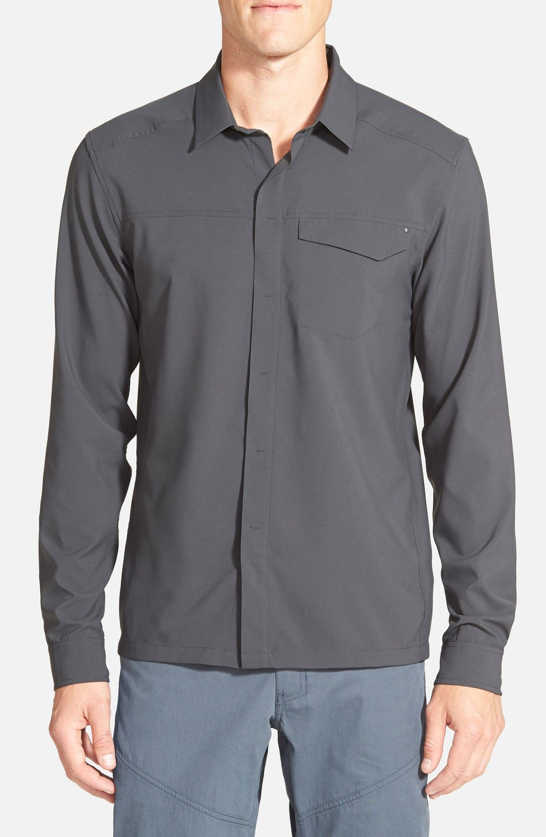 'Skyline' Trim Fit Sport Shirt, Main, color, 030