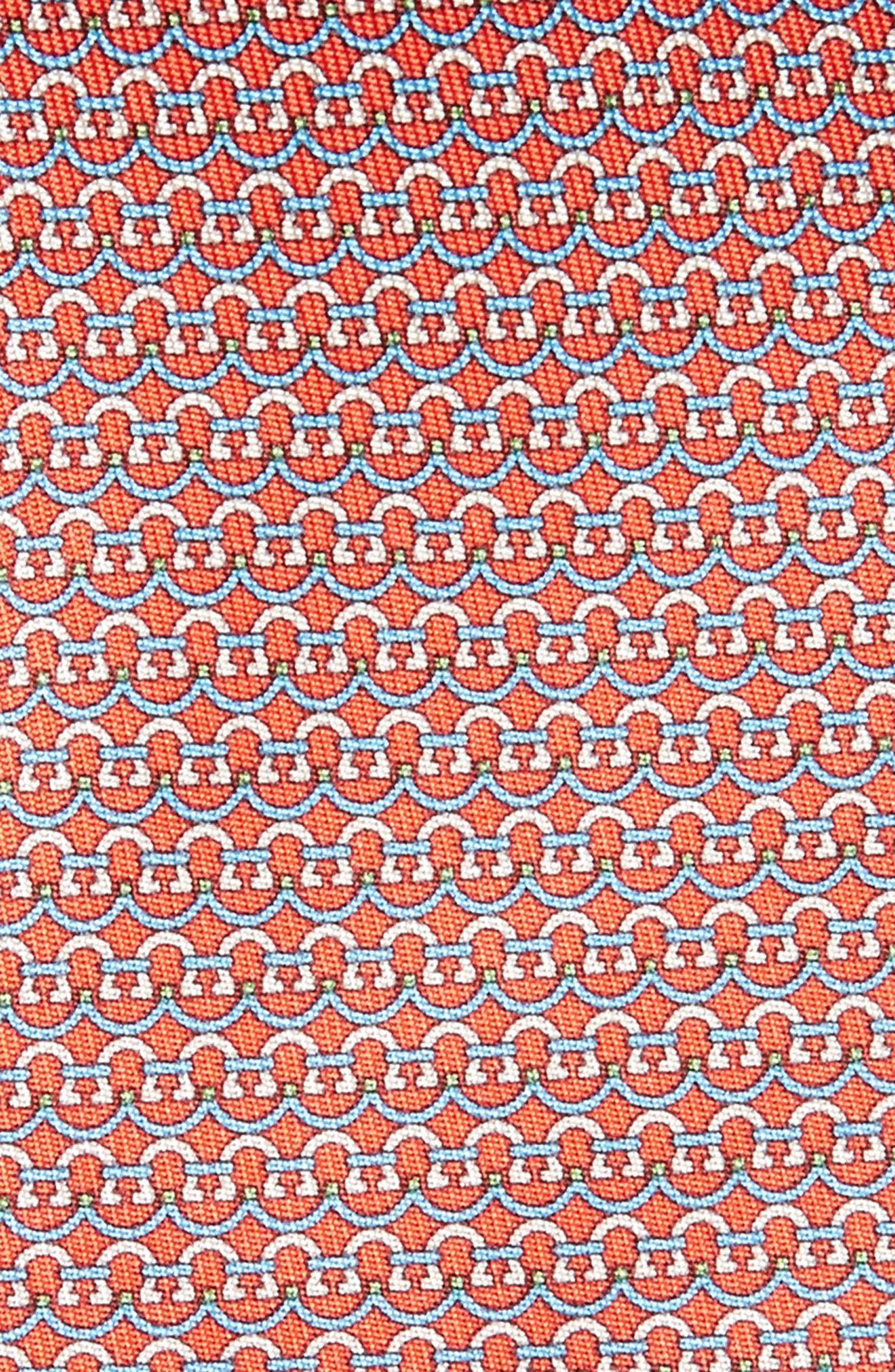 Gancini Silk Tie,                             Alternate thumbnail 8, color,