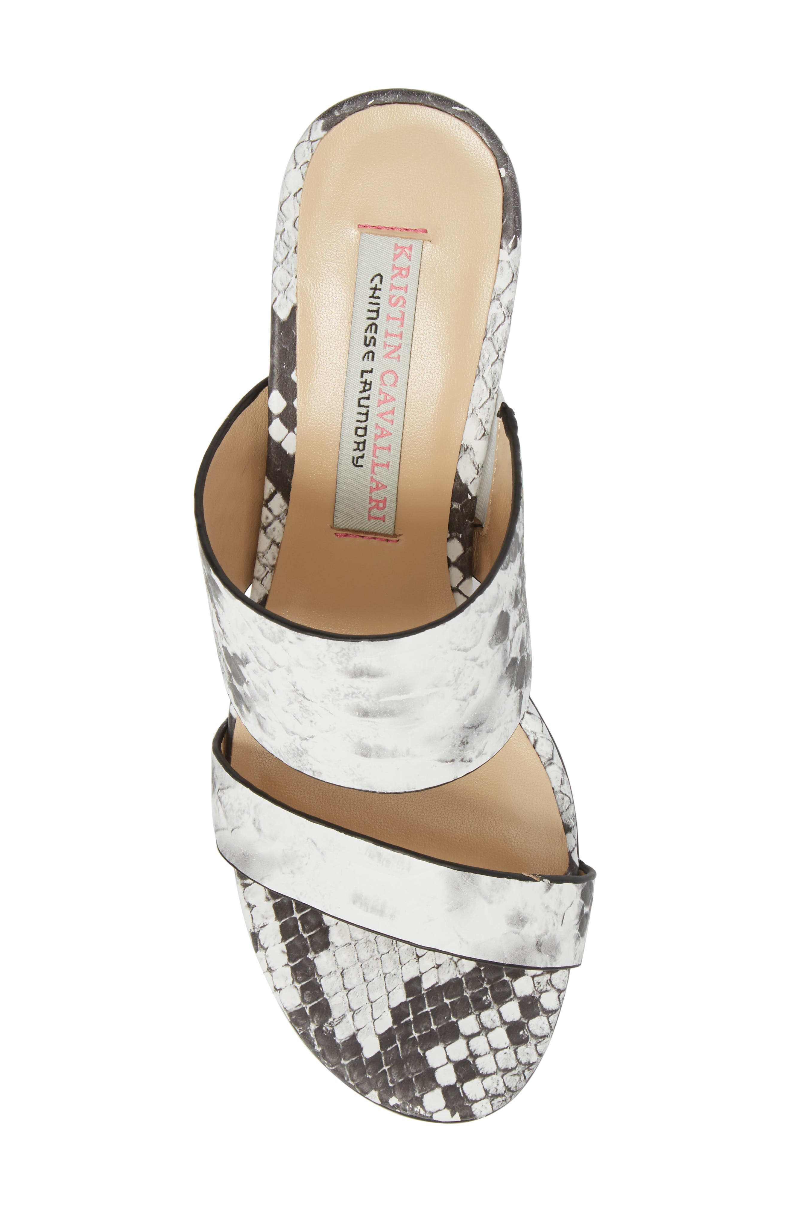 Lakeview Sandal,                             Alternate thumbnail 5, color,                             GREY/ WHITE PRINT LEATHER