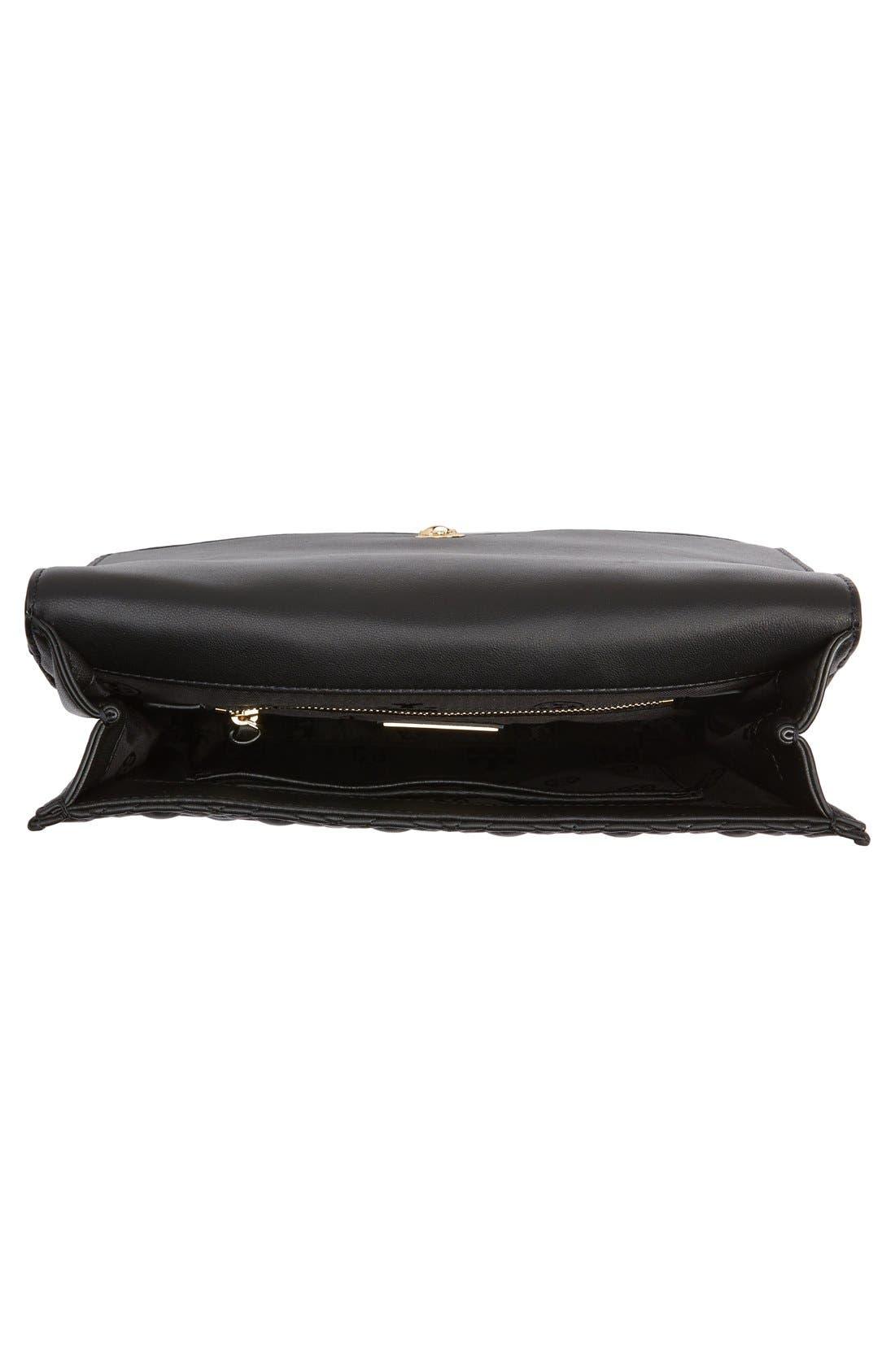 'Fleming' Convertible Shoulder Bag,                             Alternate thumbnail 4, color,                             BLACK