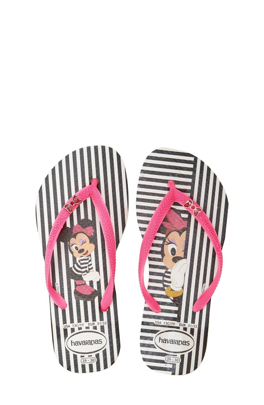 'Disney<sup>®</sup> Minnie Mouse' Flip Flop,                             Main thumbnail 3, color,
