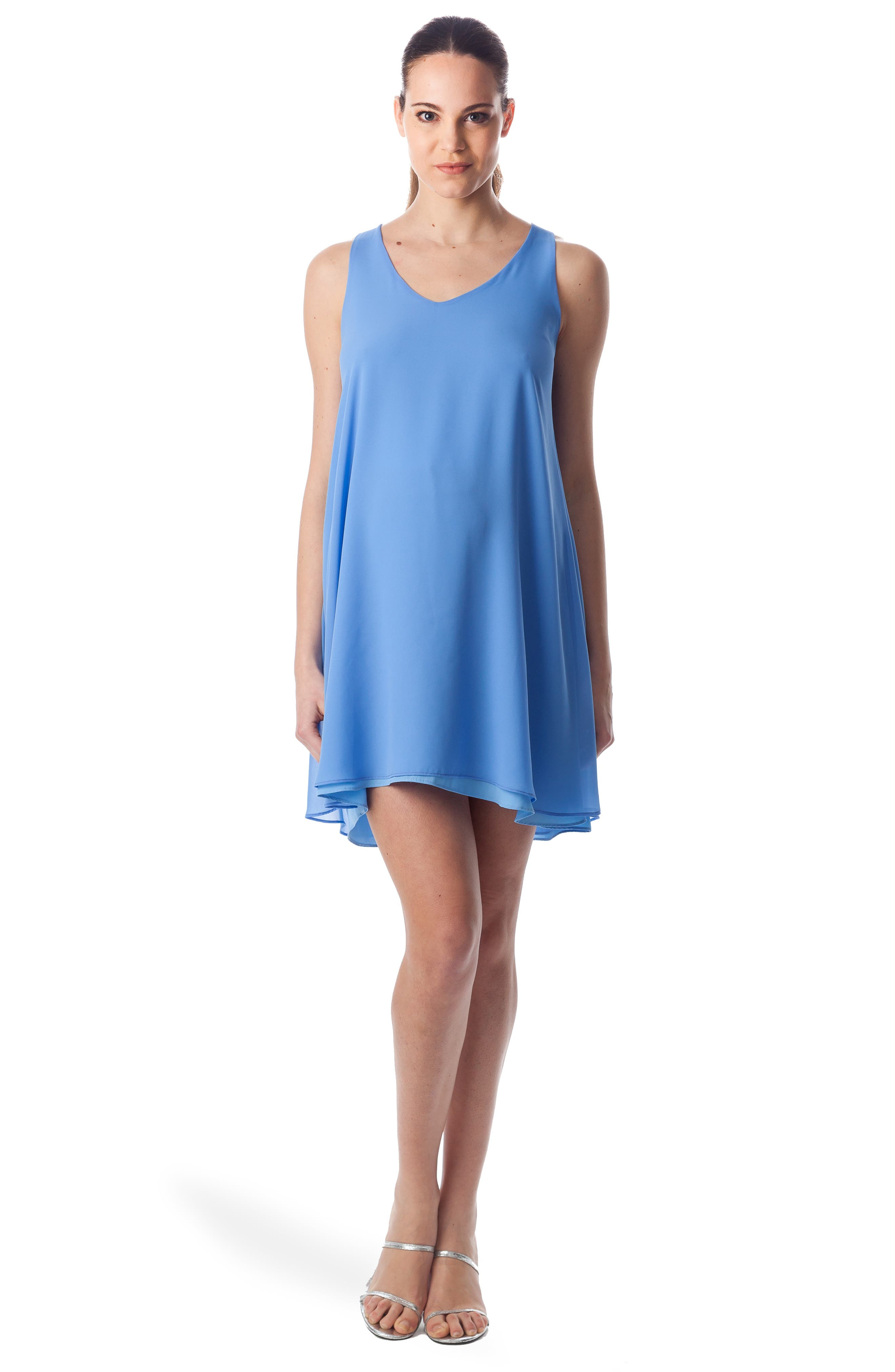 'Lago Di Como' High/Low Maternity Dress,                             Alternate thumbnail 5, color,                             440