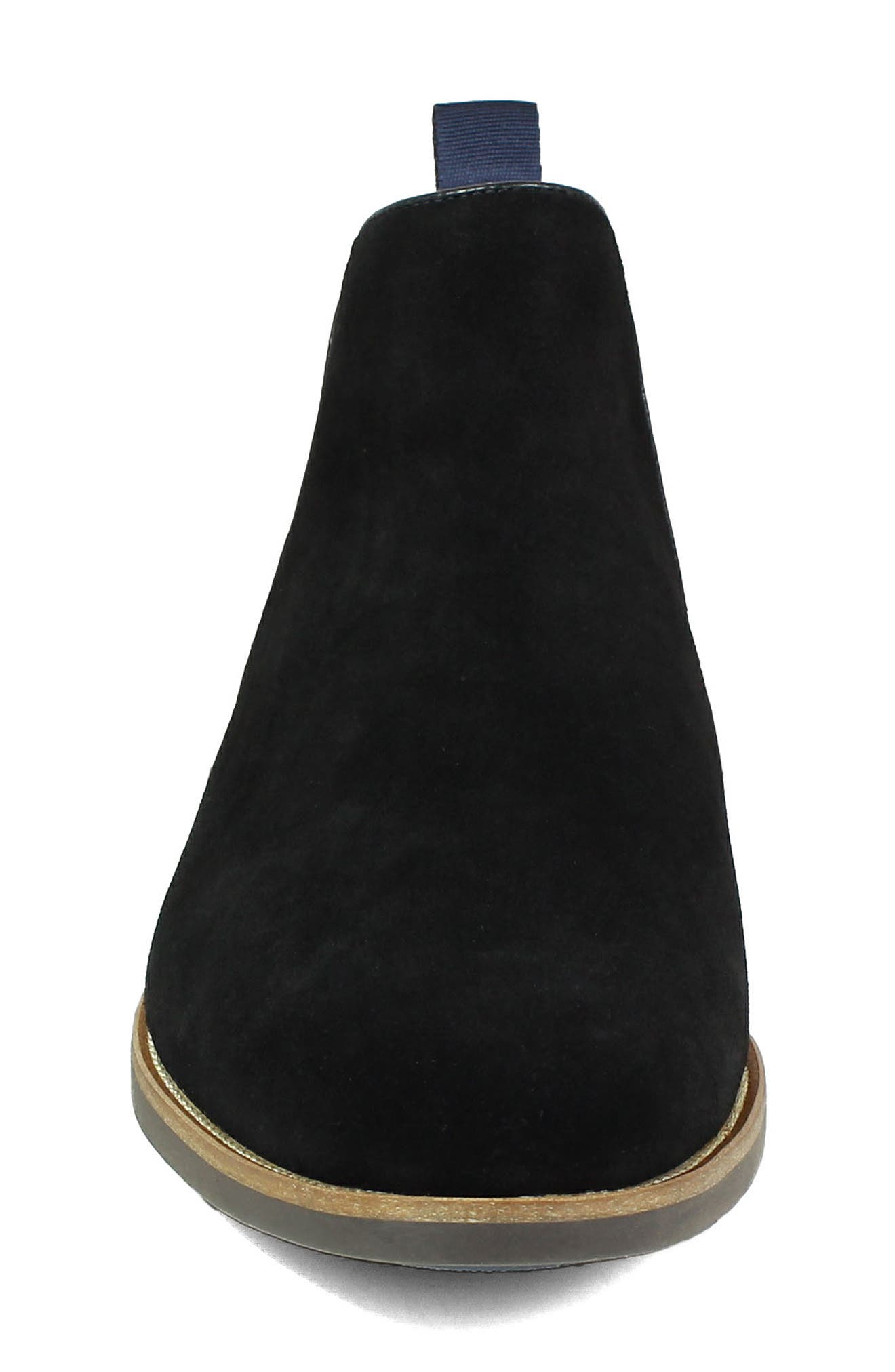 Uptown Plain Toe Mid Chelsea Boot,                             Alternate thumbnail 4, color,                             BLACK SUEDE