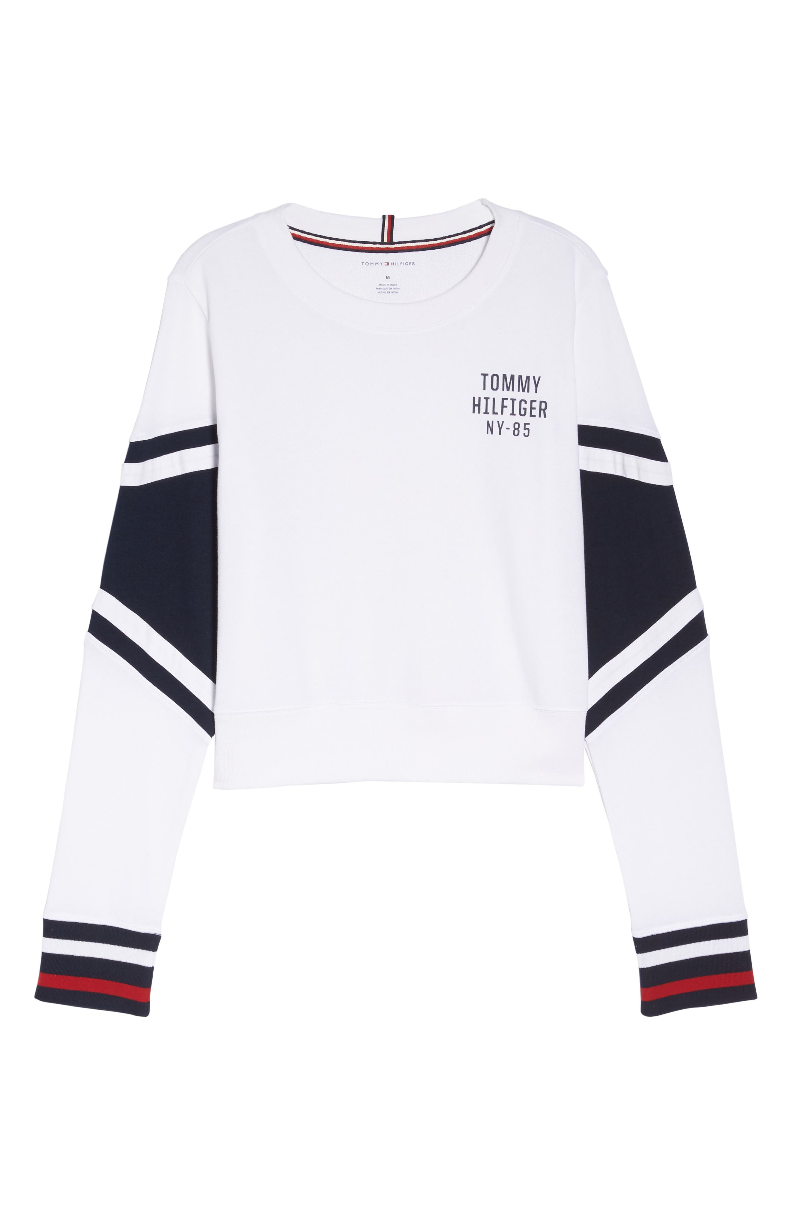 Cropped Lounge Pullover,                             Alternate thumbnail 6, color,                             BRIGHT WHITE