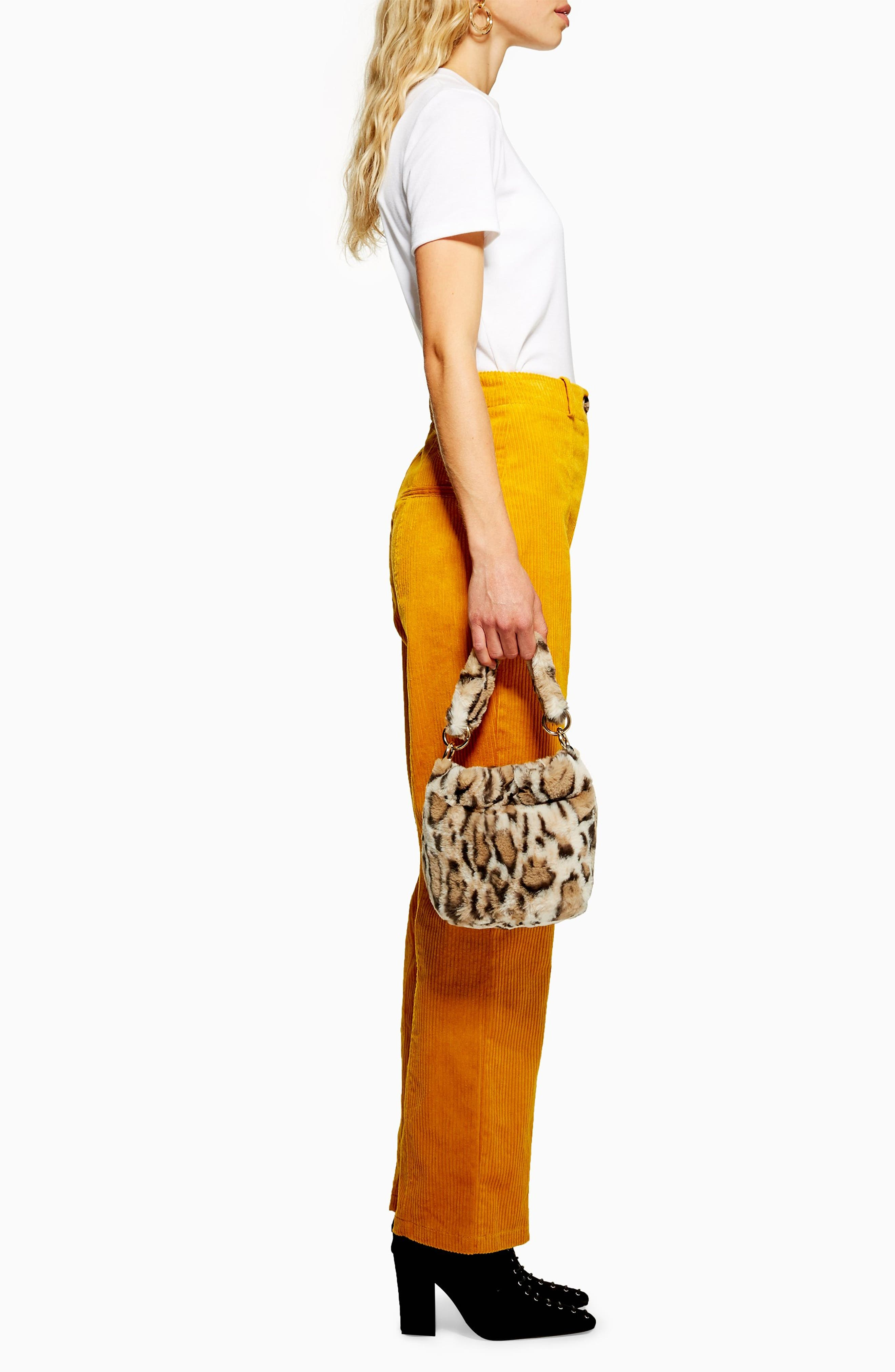 Teddy Faux Fur Bucket Bag,                             Alternate thumbnail 2, color,                             LEOPARD