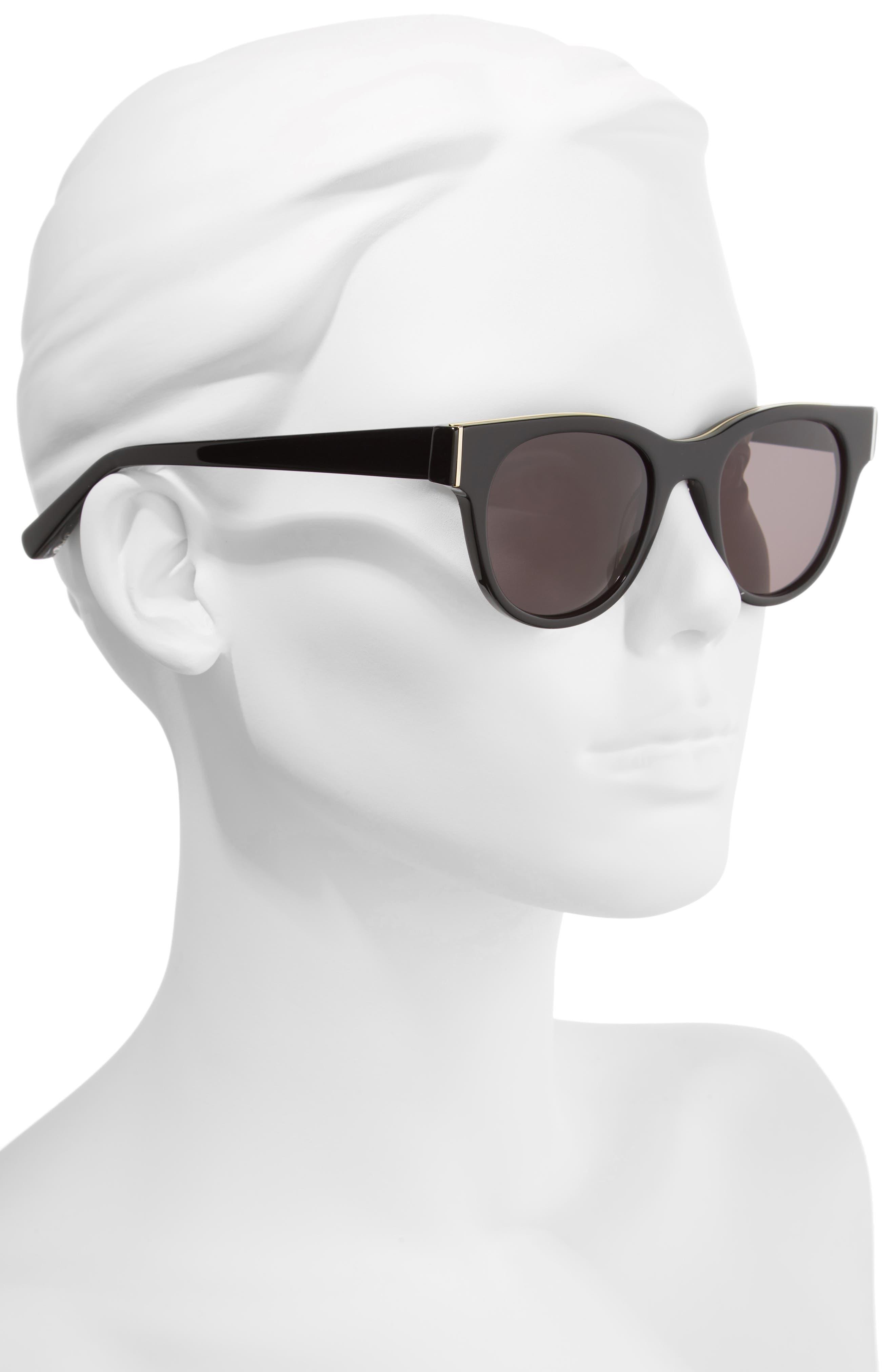 Blair 50mm Cat Eye Sunglasses,                             Alternate thumbnail 4, color,