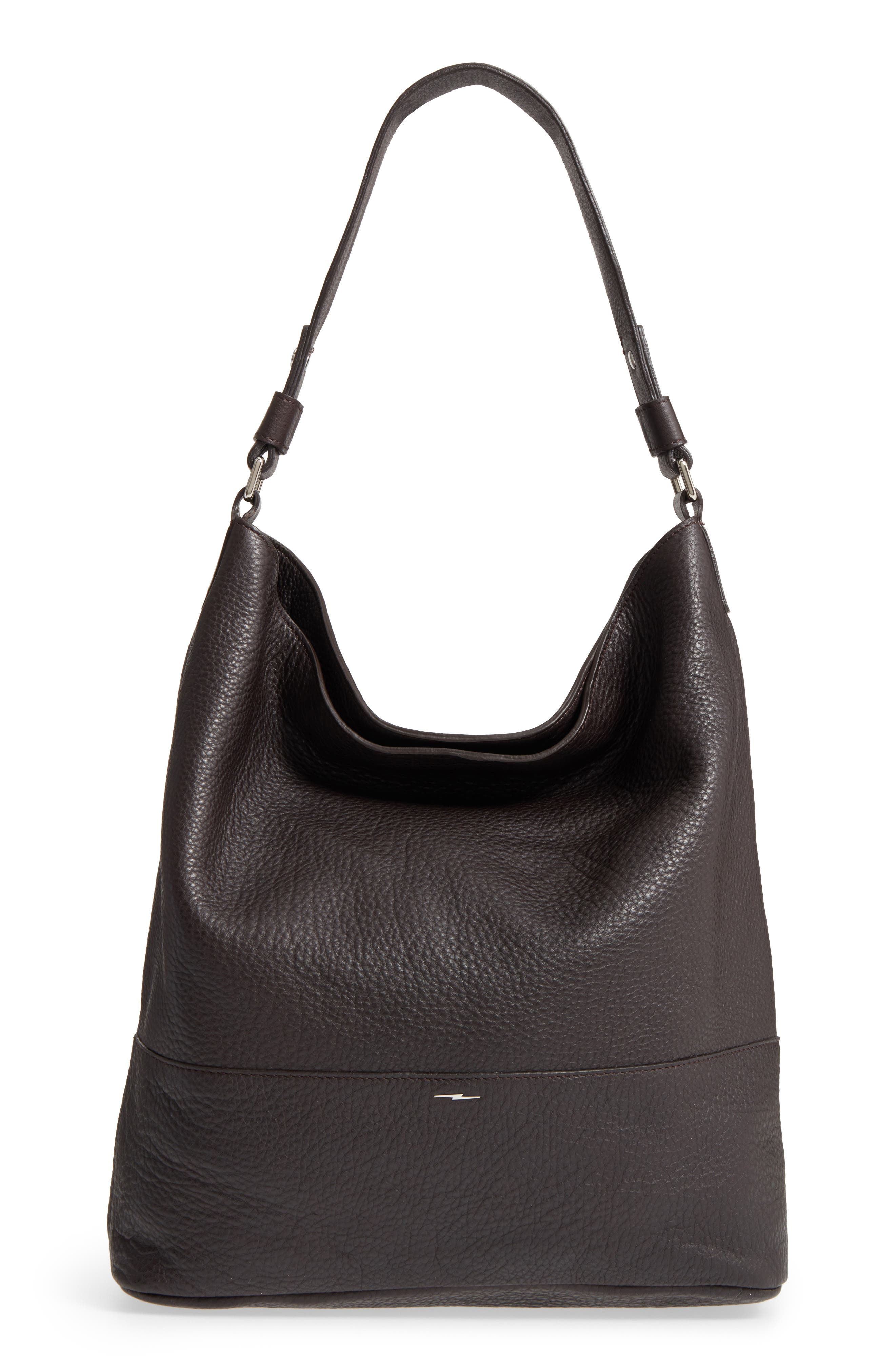 Relaxed Calfskin Leather Hobo Bag,                             Main thumbnail 1, color,                             240