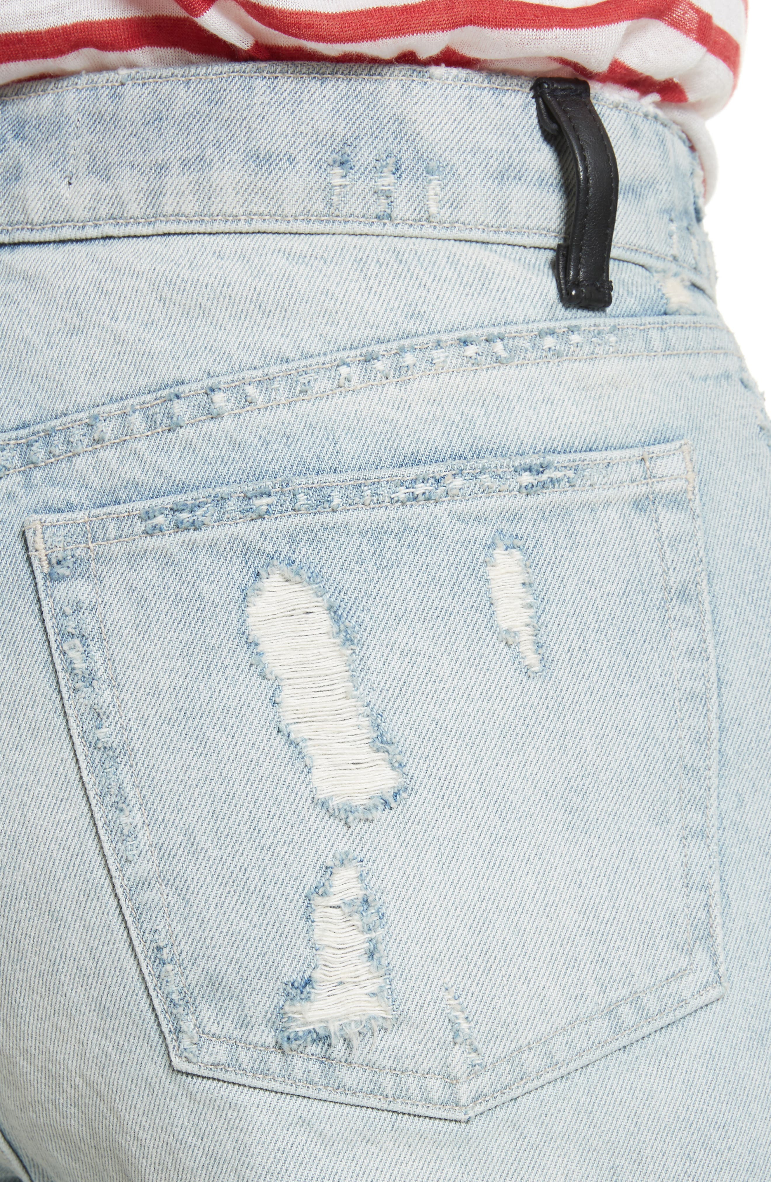 Distressed Boyfriend Jeans,                             Alternate thumbnail 4, color,
