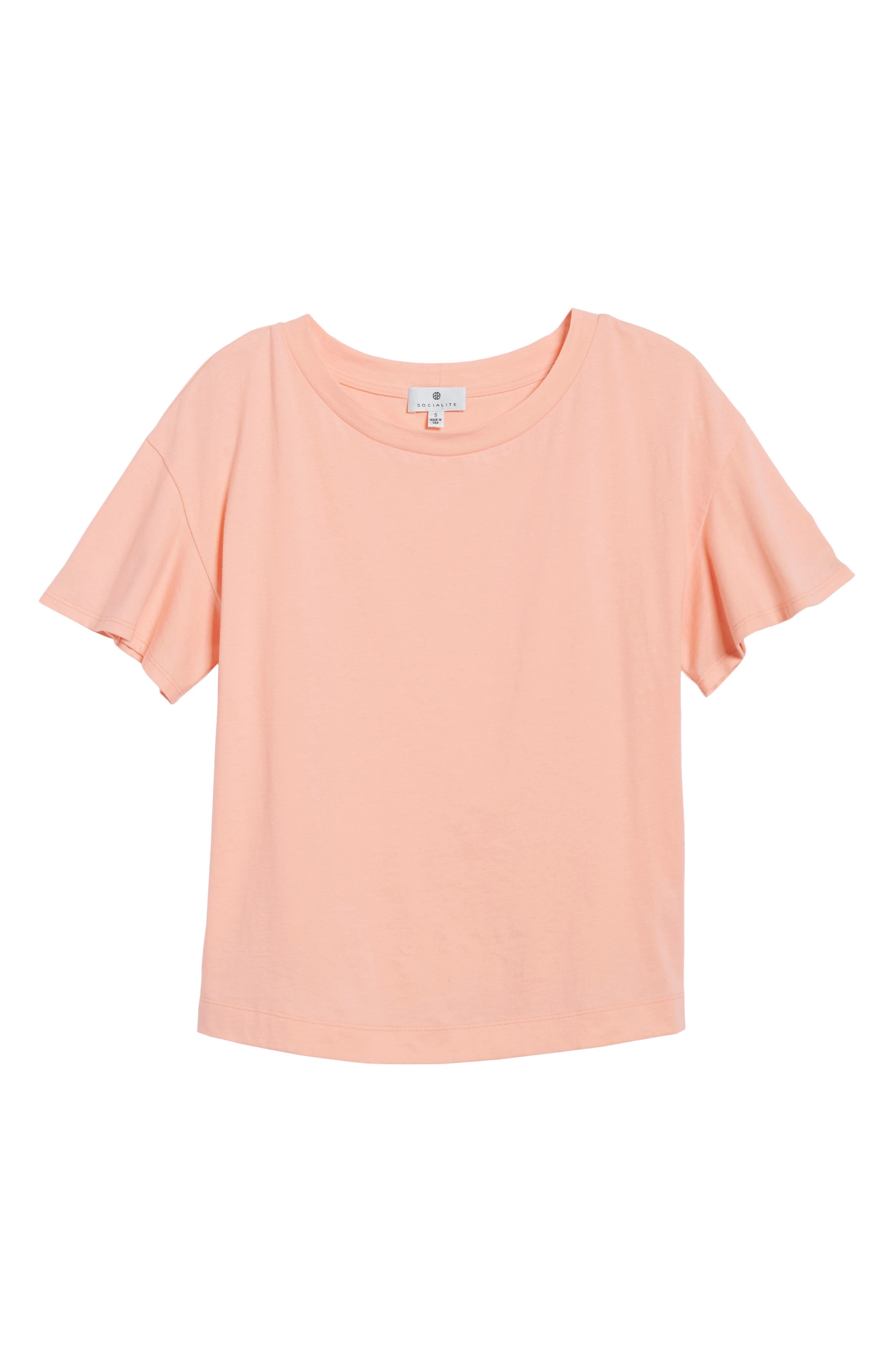 Flutter Sleeve Tee,                             Alternate thumbnail 18, color,