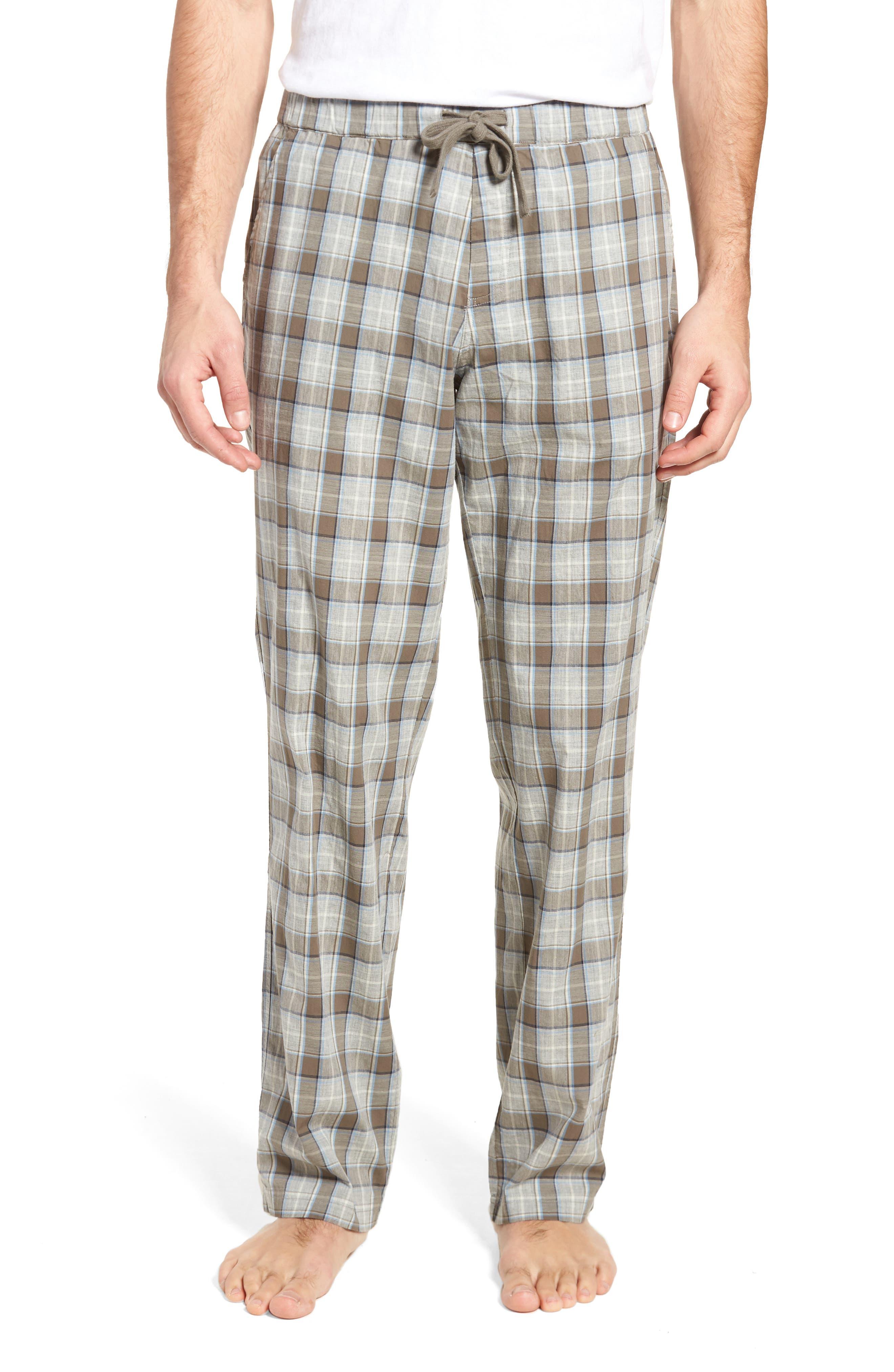 Flynn Plaid Cotton Lounge Pants,                         Main,                         color,