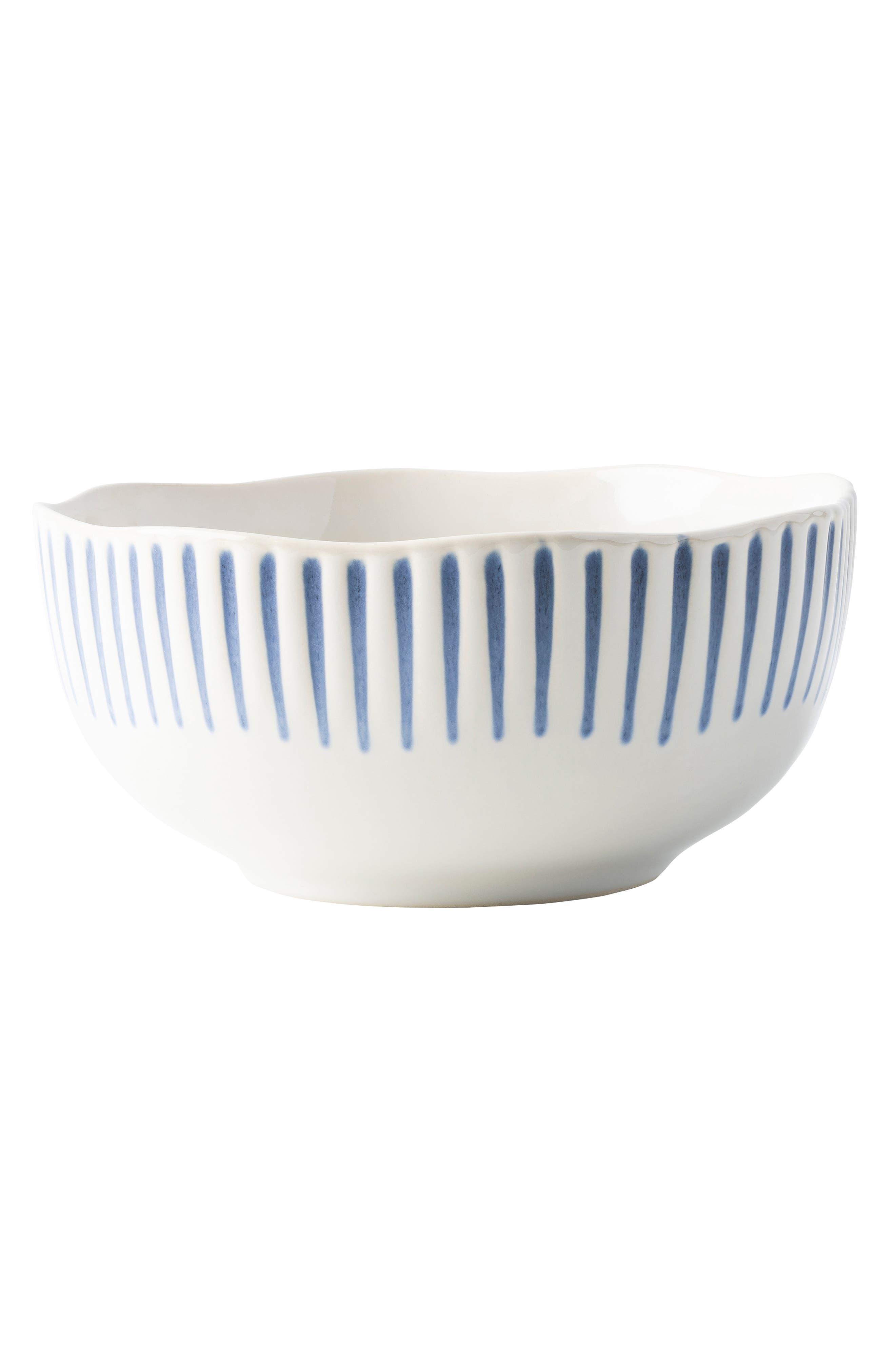 JULISKA,                             Sitio Stripe Cereal Bowl,                             Main thumbnail 1, color,                             INDIGO