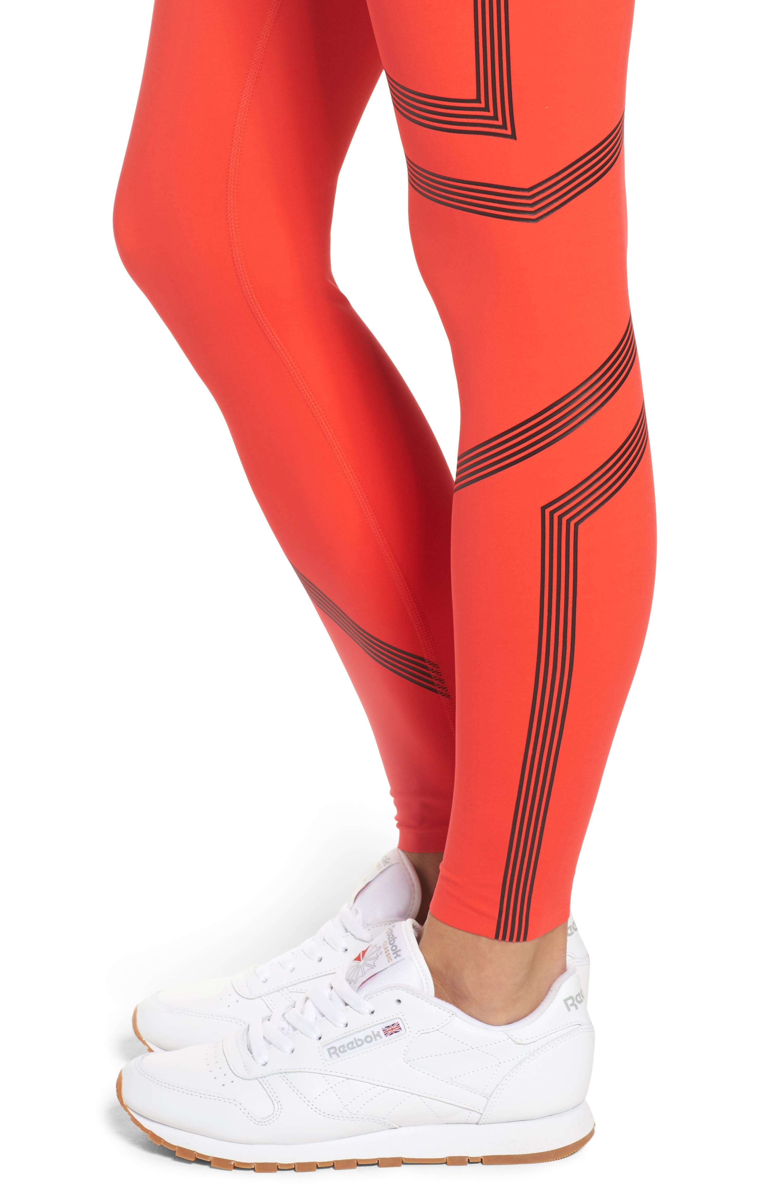 Linear High Rise Performance Tights,                             Alternate thumbnail 8, color,
