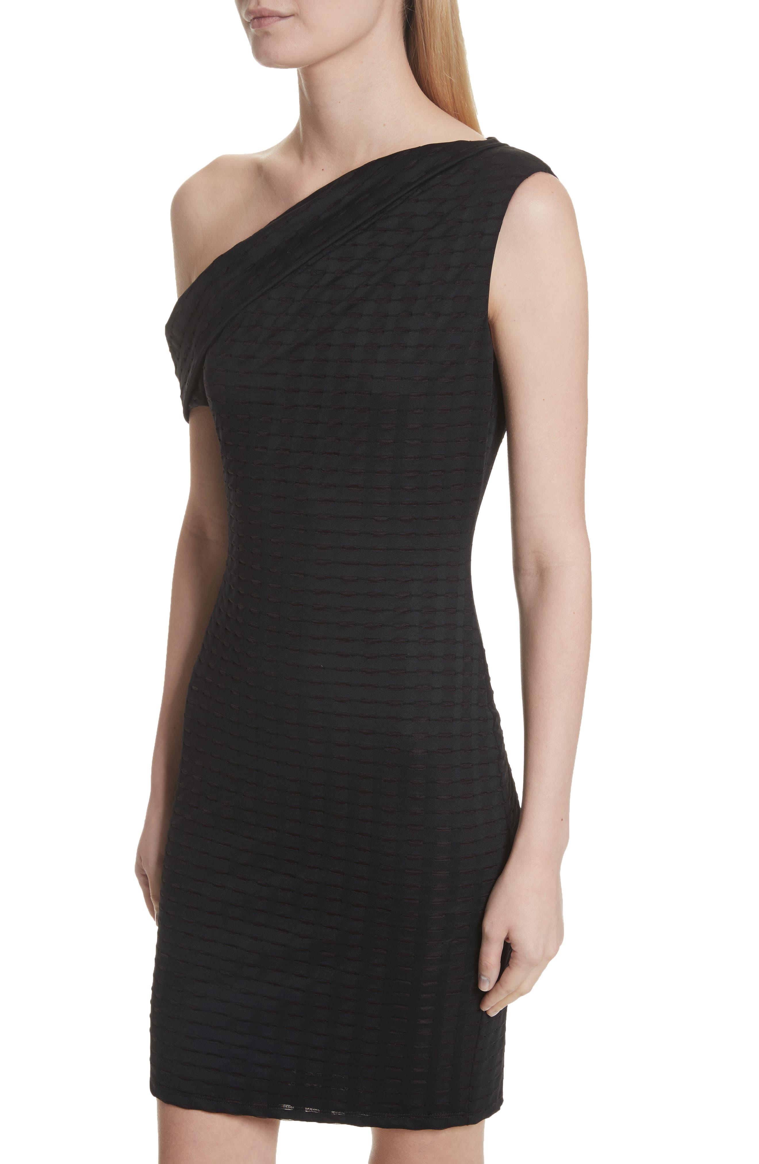 One-Shoulder Minidress,                             Alternate thumbnail 4, color,                             001