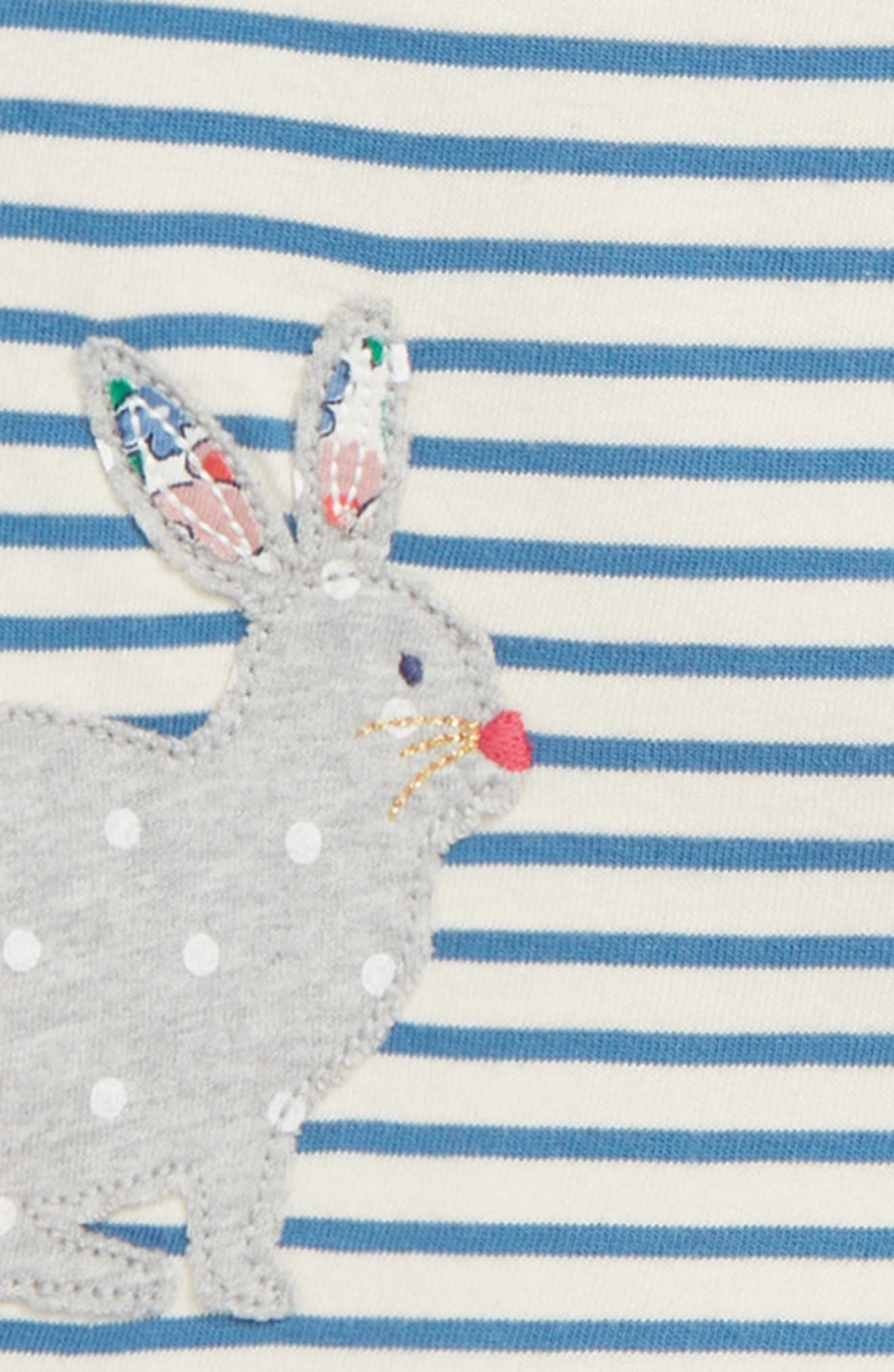 Appliqué Dress & Leggings Set,                             Alternate thumbnail 2, color,                             AZURE/ BUNNIES