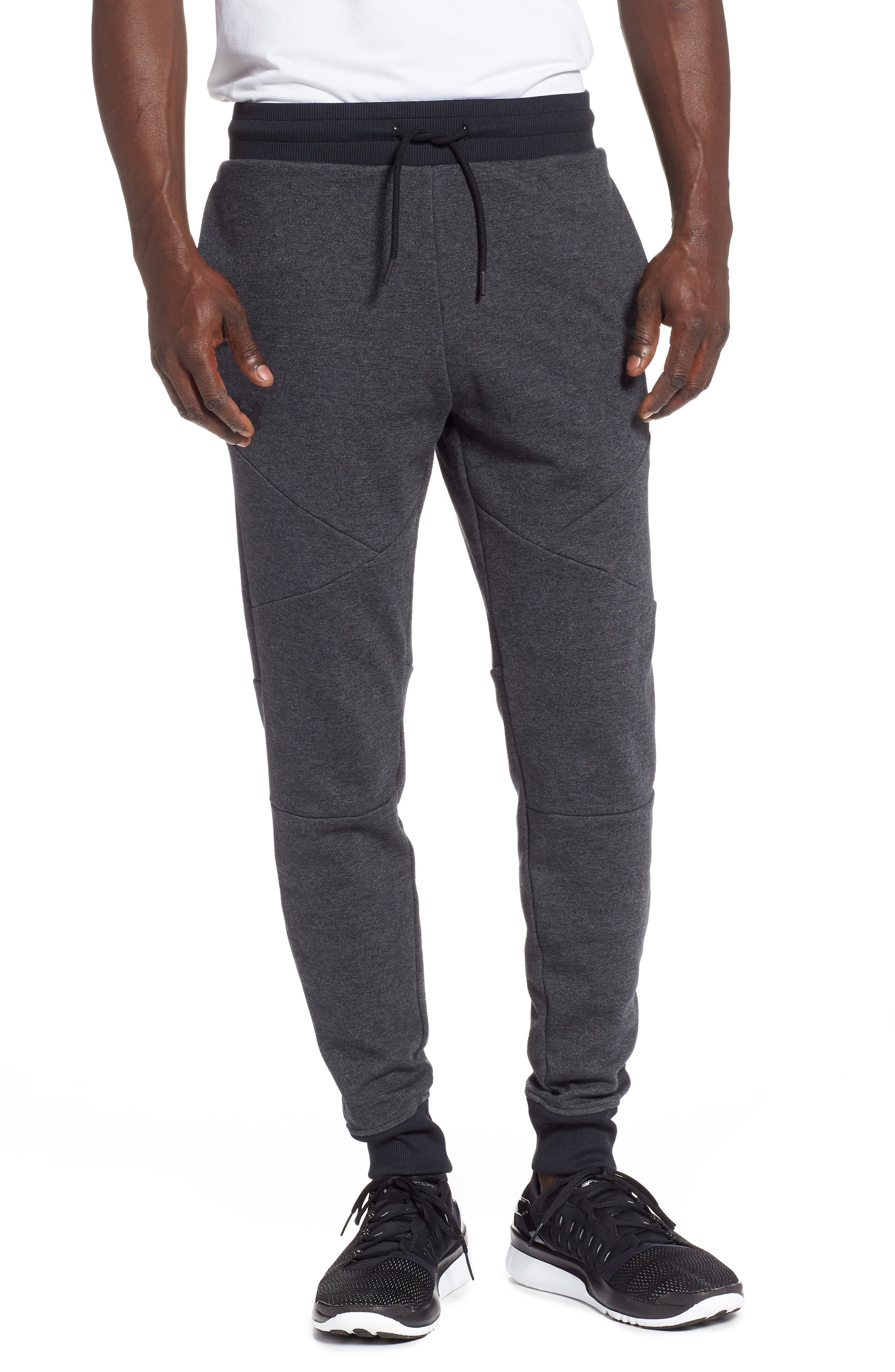 UNDER ARMOUR Unstoppable Double Knit Jogger Pants, Main, color, 001