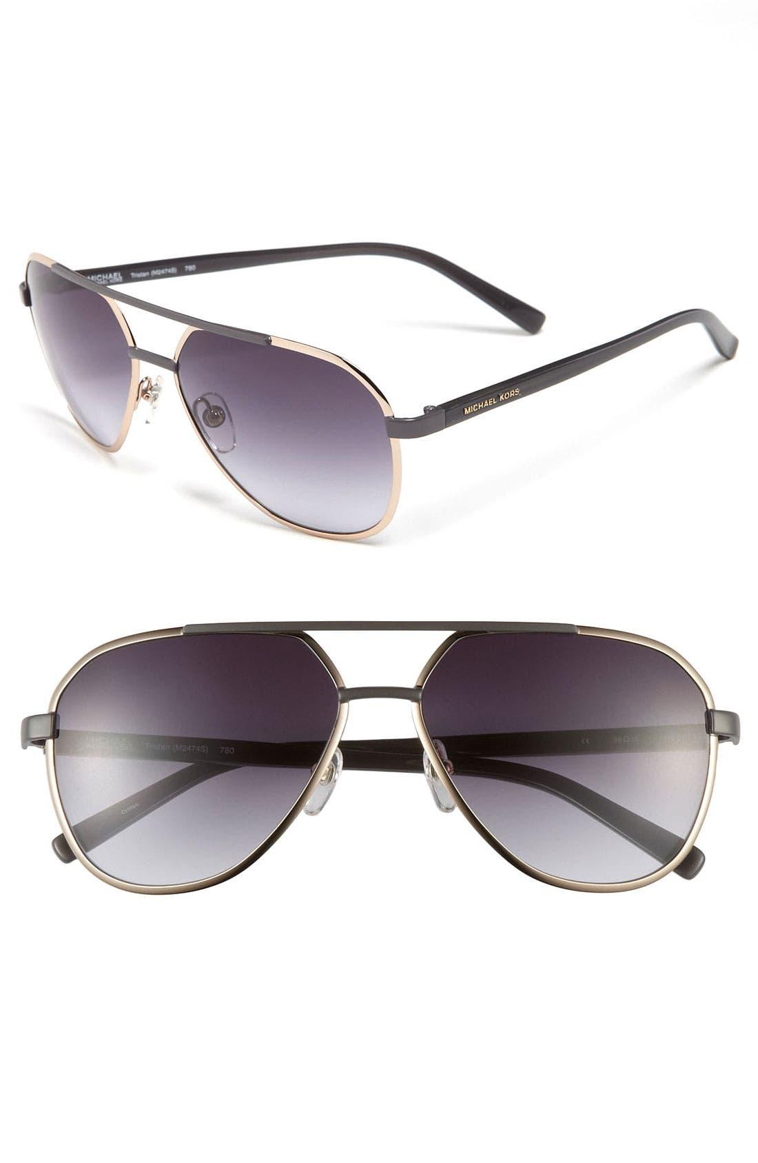 'Tristan' 59mm Aviator Sunglasses,                             Main thumbnail 4, color,