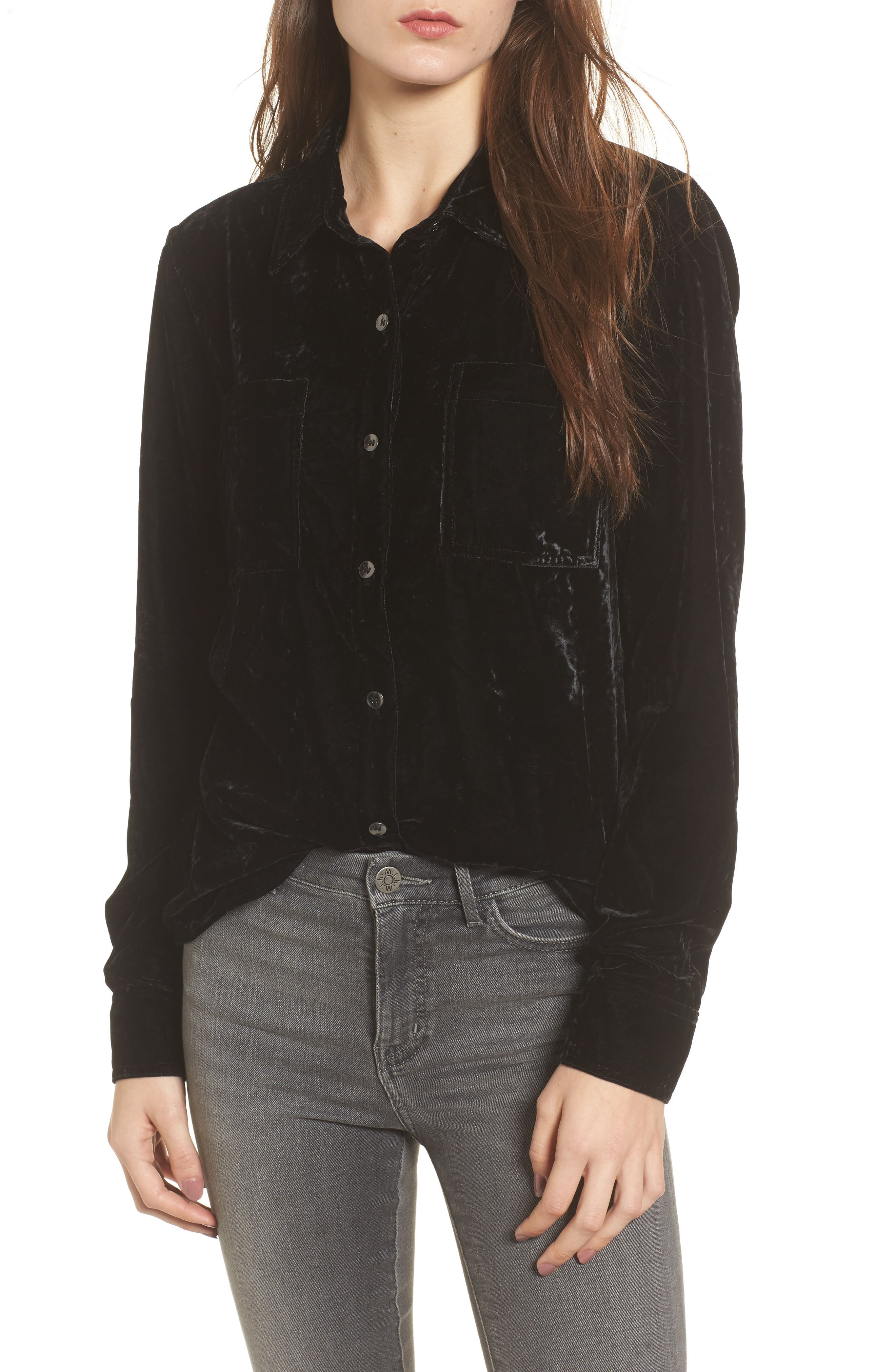Velvet Shirt,                         Main,                         color, 001