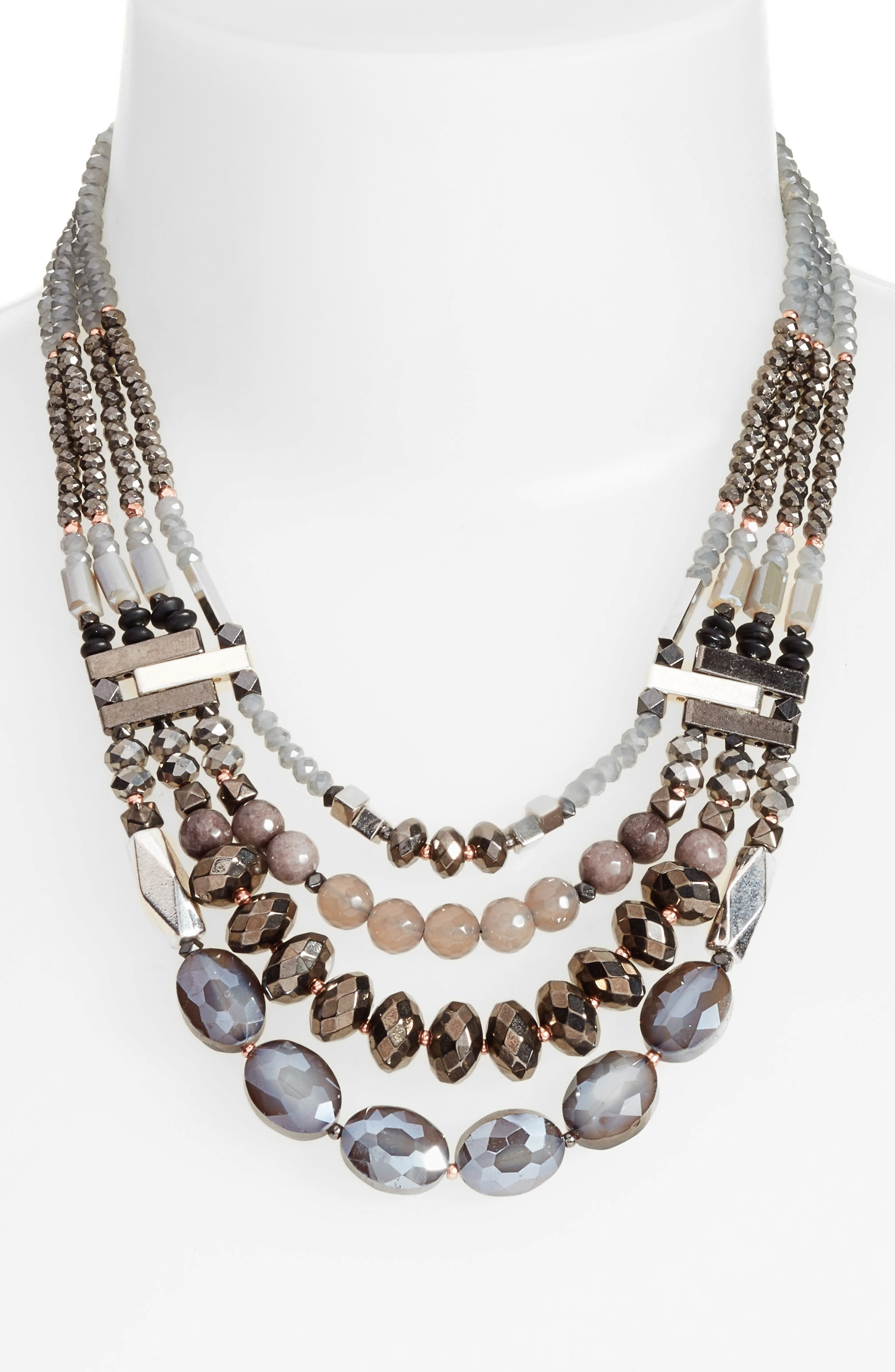 Multistrand Stone Necklace,                             Alternate thumbnail 2, color,                             040