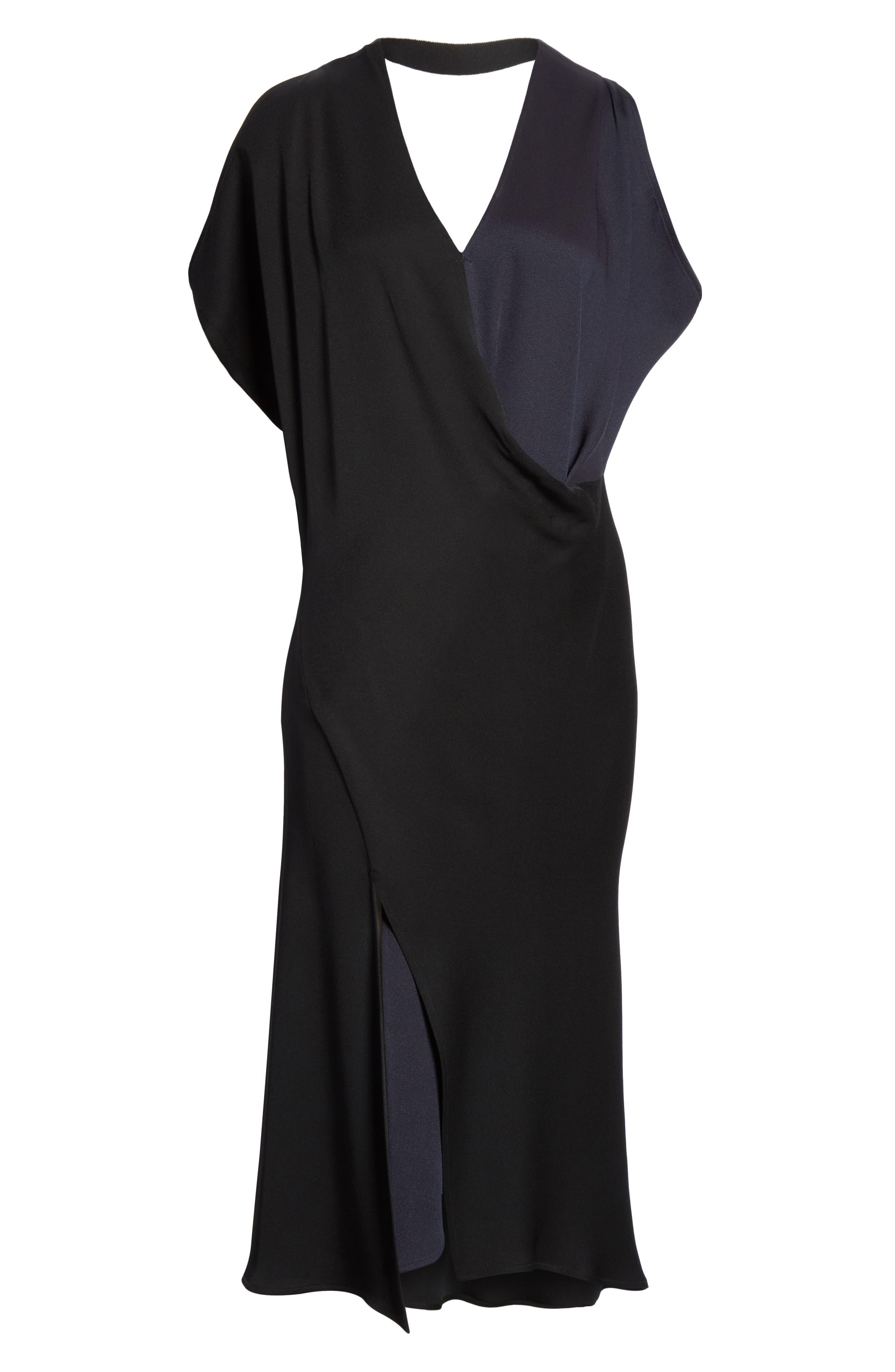 Colorblock Dress,                             Alternate thumbnail 6, color,                             001