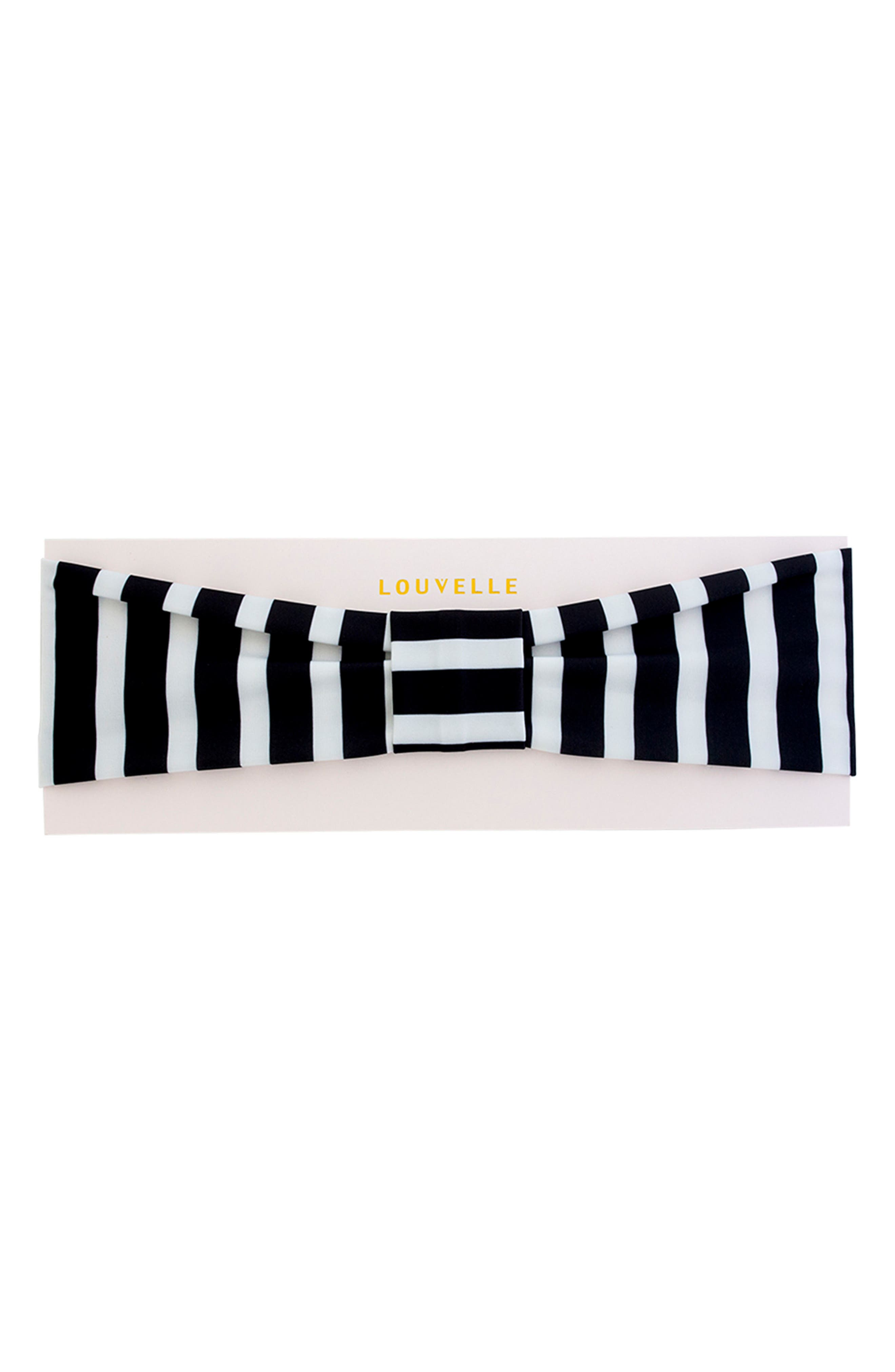 Seraphine Headband,                         Main,                         color, MONOCHROME STRIPE