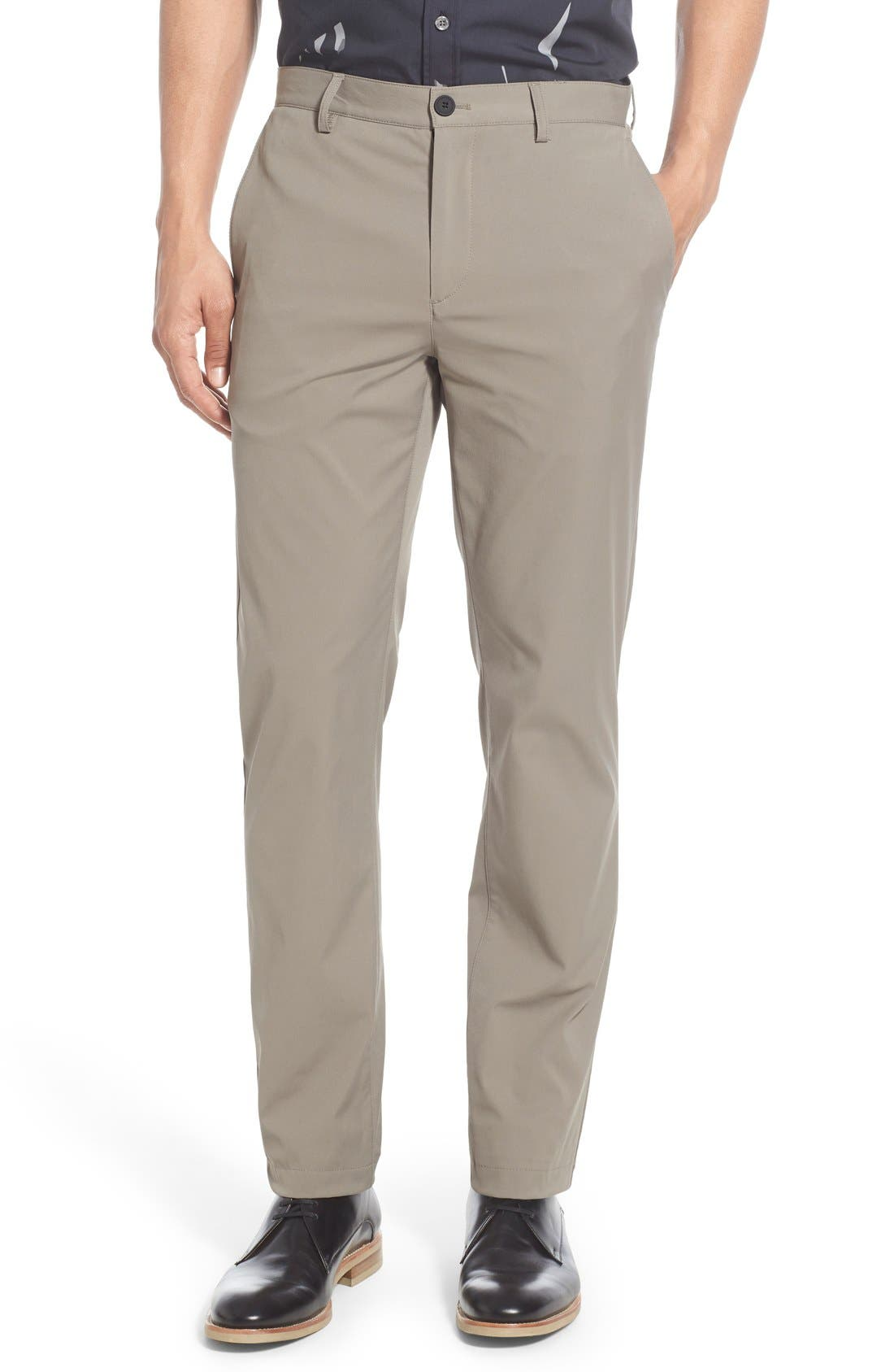 'Zaine Neoteric' Slim Fit Pants,                         Main,                         color, SIDEWALK