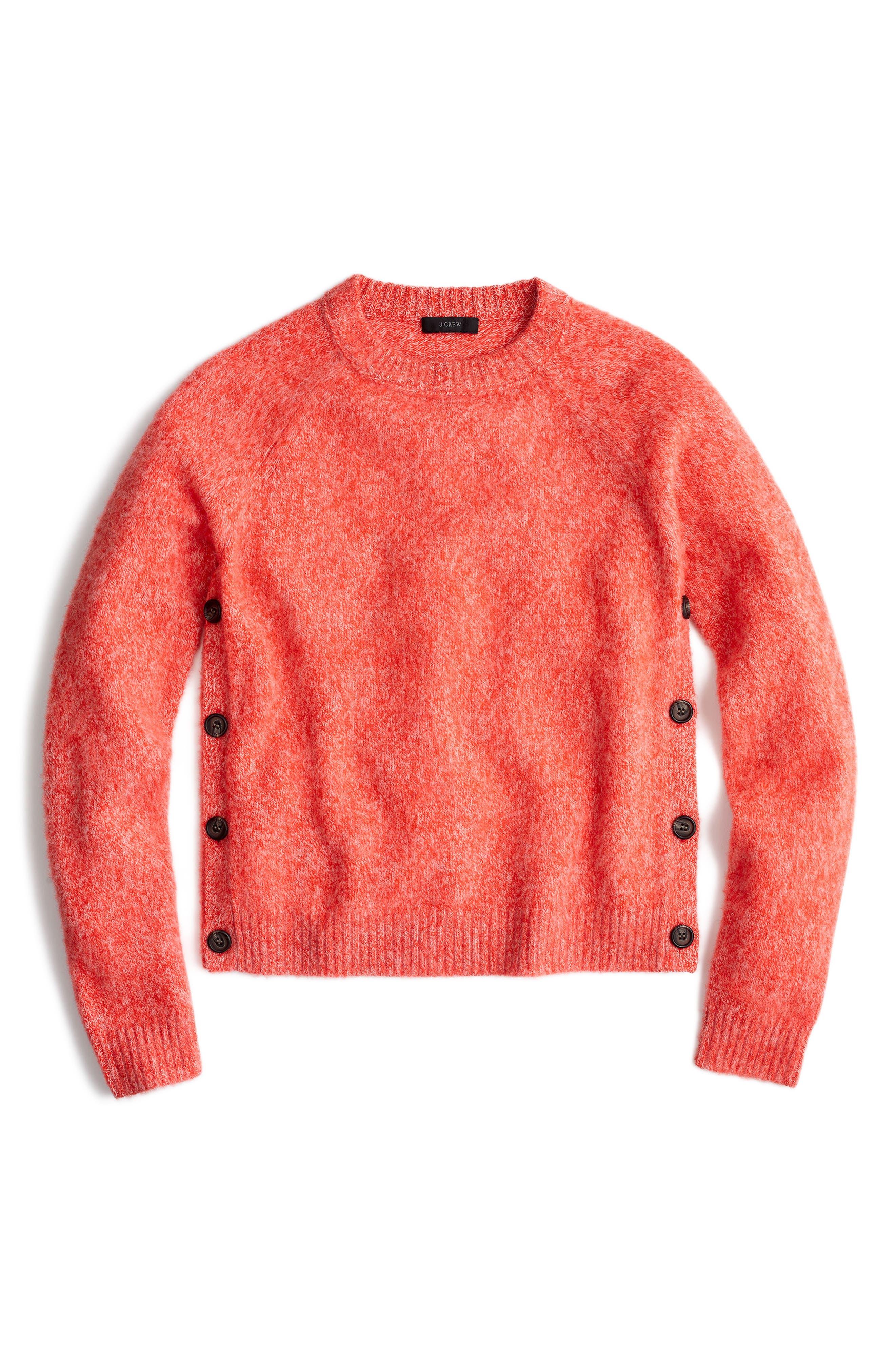 Brushed Shrunken Lambswool Crewneck Sweater,                             Alternate thumbnail 3, color,