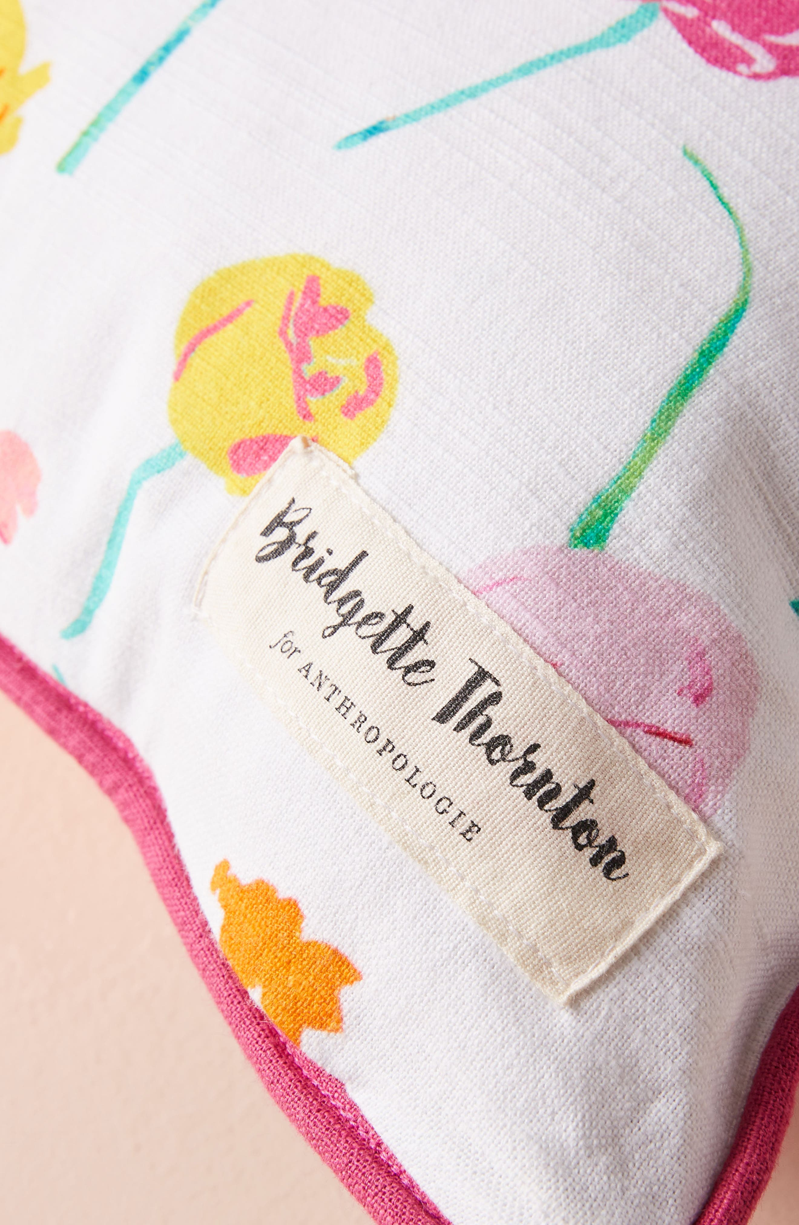 Paint + Petals Accent Pillow,                             Alternate thumbnail 3, color,                             YELLOW