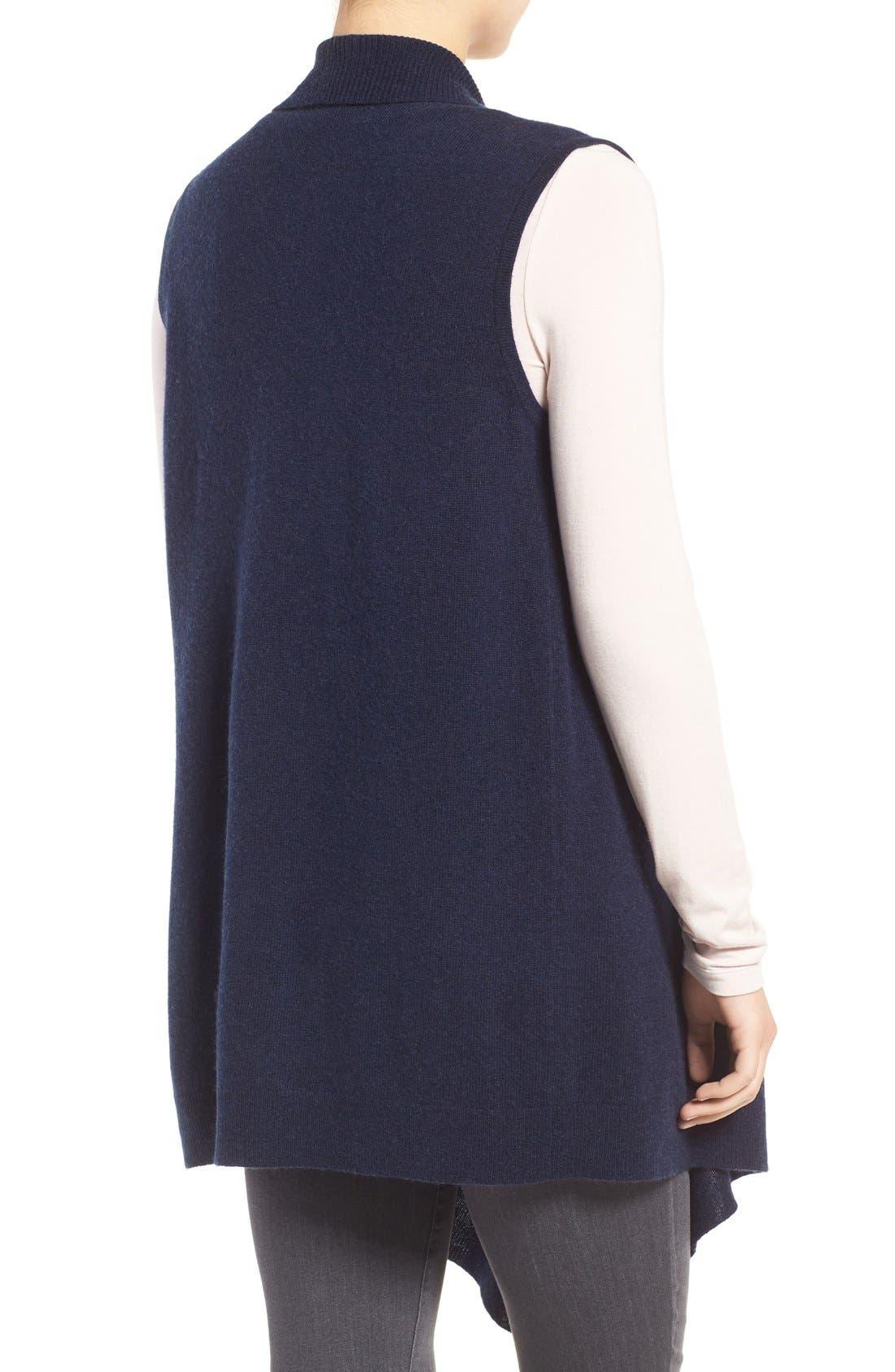 Wool & Cashmere Drape Front Sweater Vest,                             Alternate thumbnail 15, color,