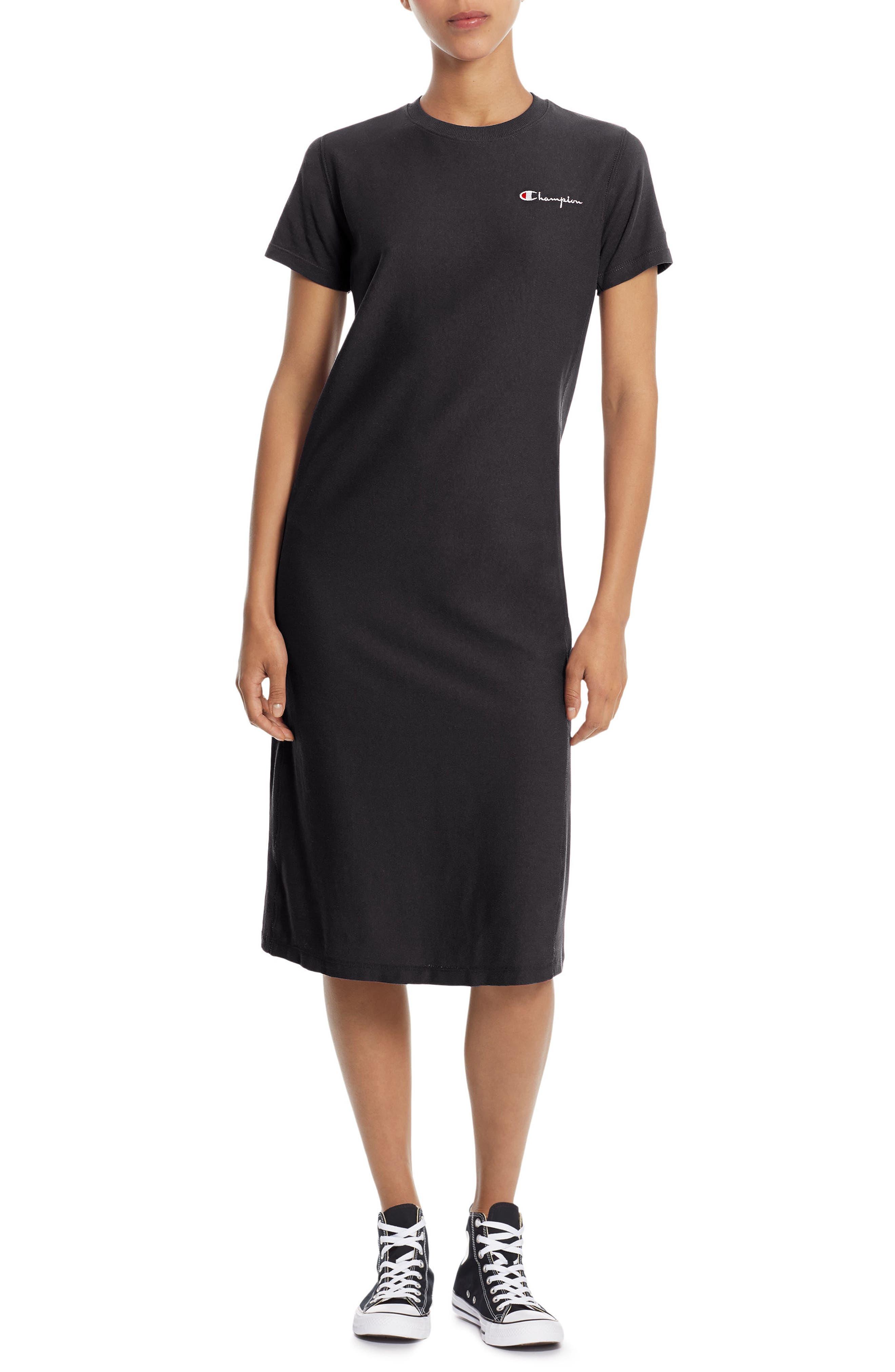 Heavyweight Jersey T-Shirt Dress,                             Main thumbnail 1, color,                             001