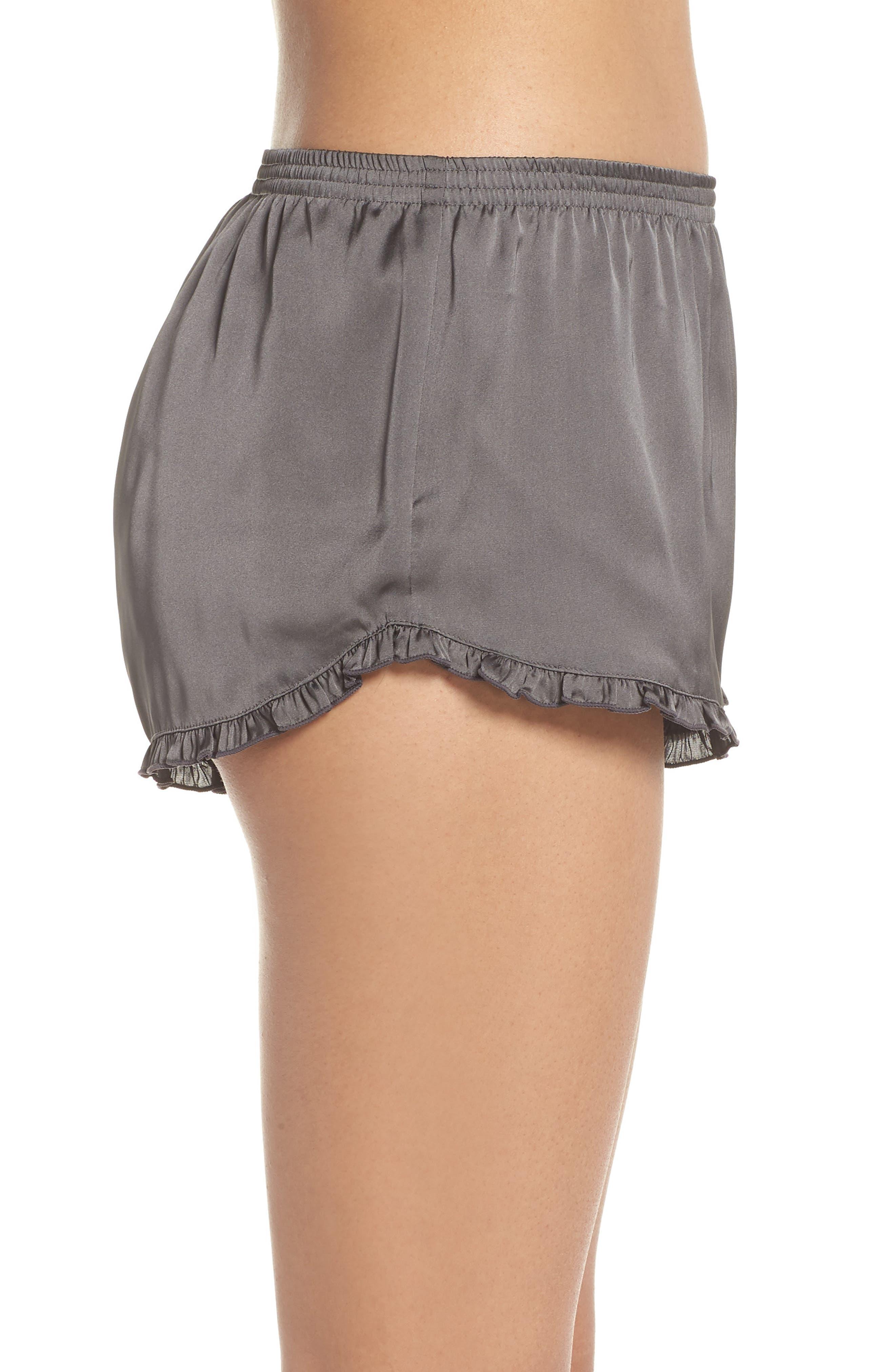 Satin Lounge Shorts,                             Alternate thumbnail 3, color,                             022