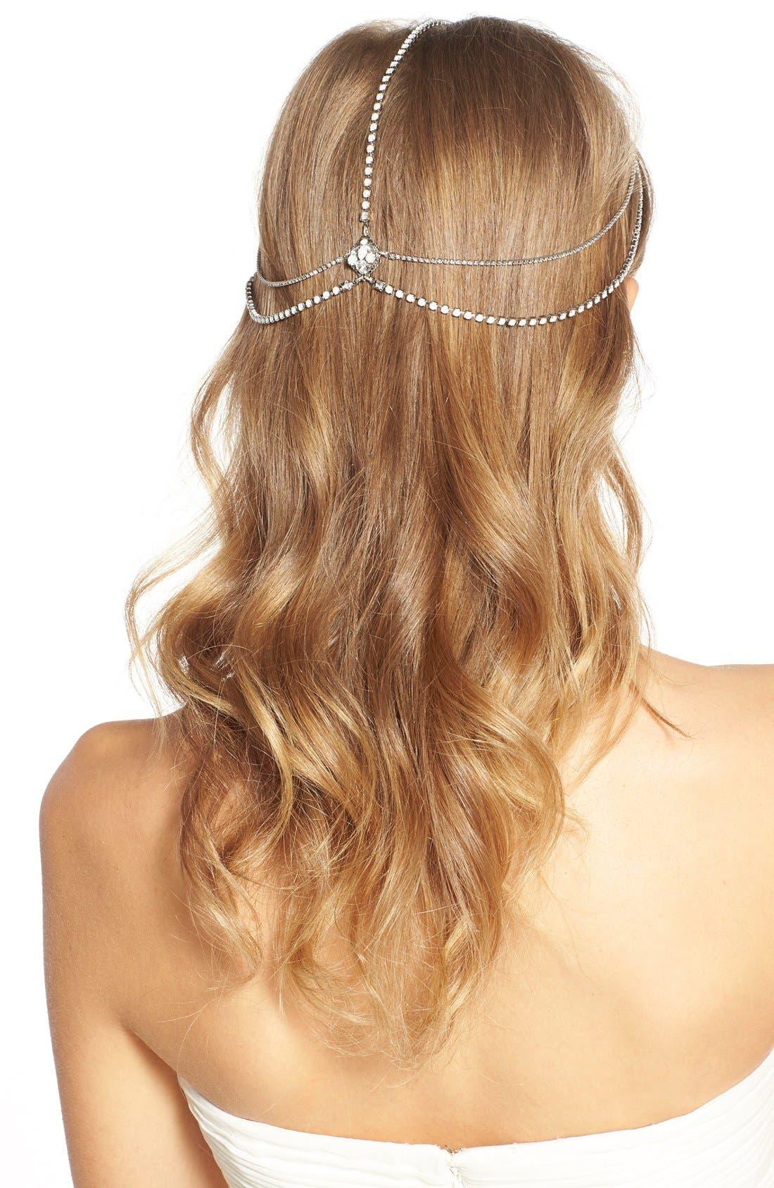 'Lindsay' Embellished Hair Chain,                             Alternate thumbnail 4, color,