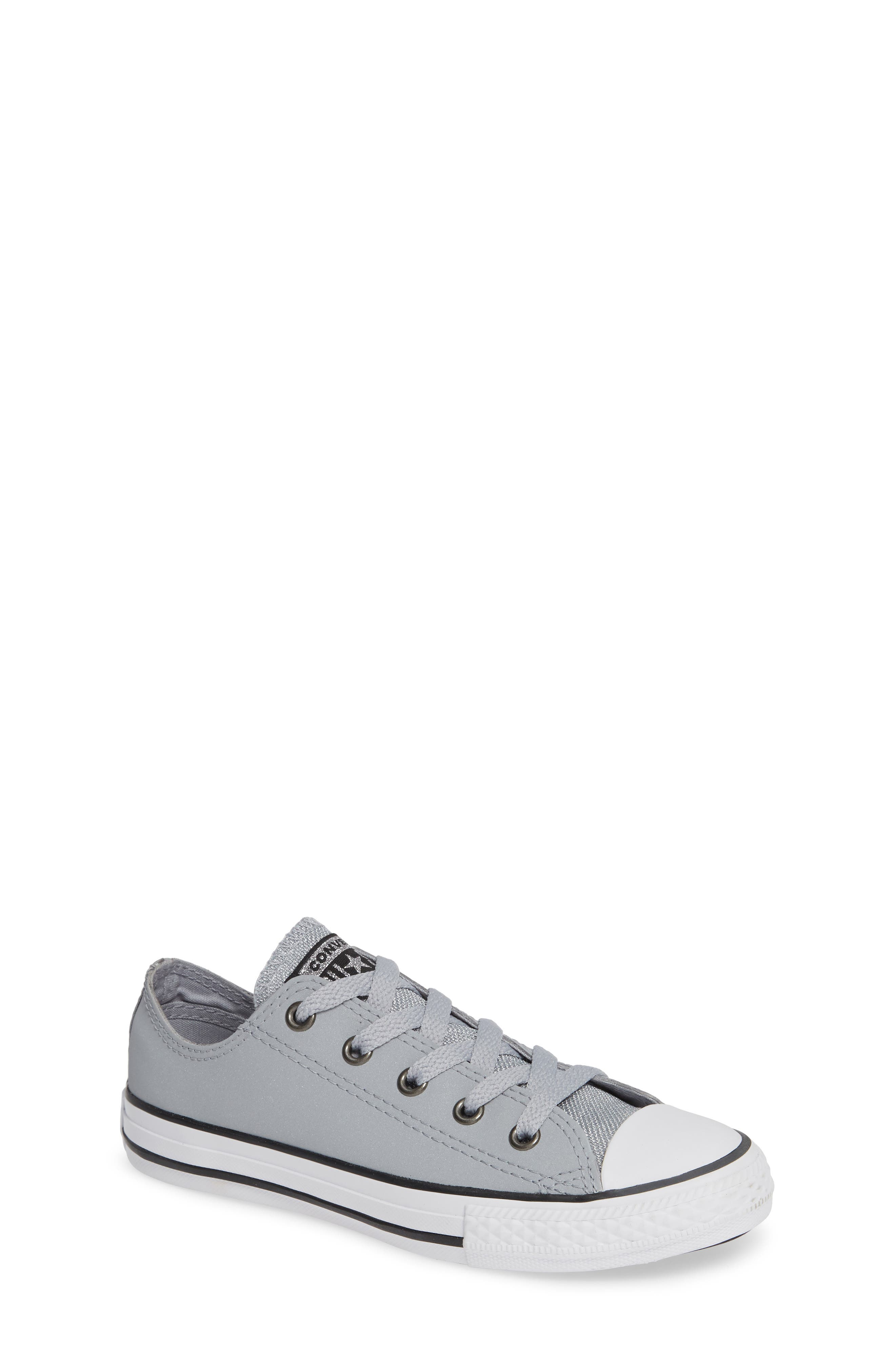 All Star<sup>®</sup> Metallic Low Top Sneaker,                             Main thumbnail 1, color,                             WOLF GREY