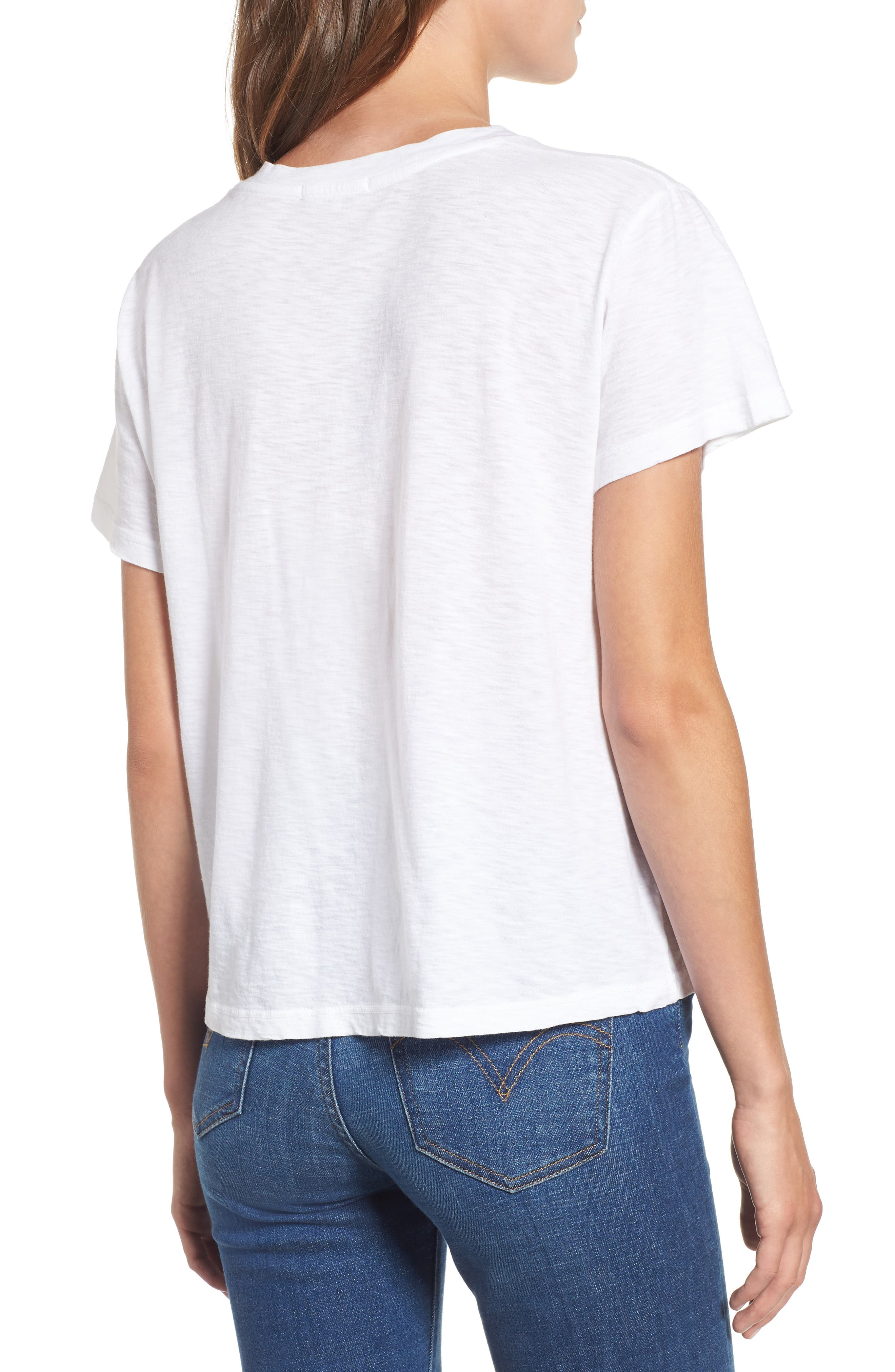 SUNDRY,                             Smile Boxy Cotton Tee,                             Alternate thumbnail 2, color,                             100