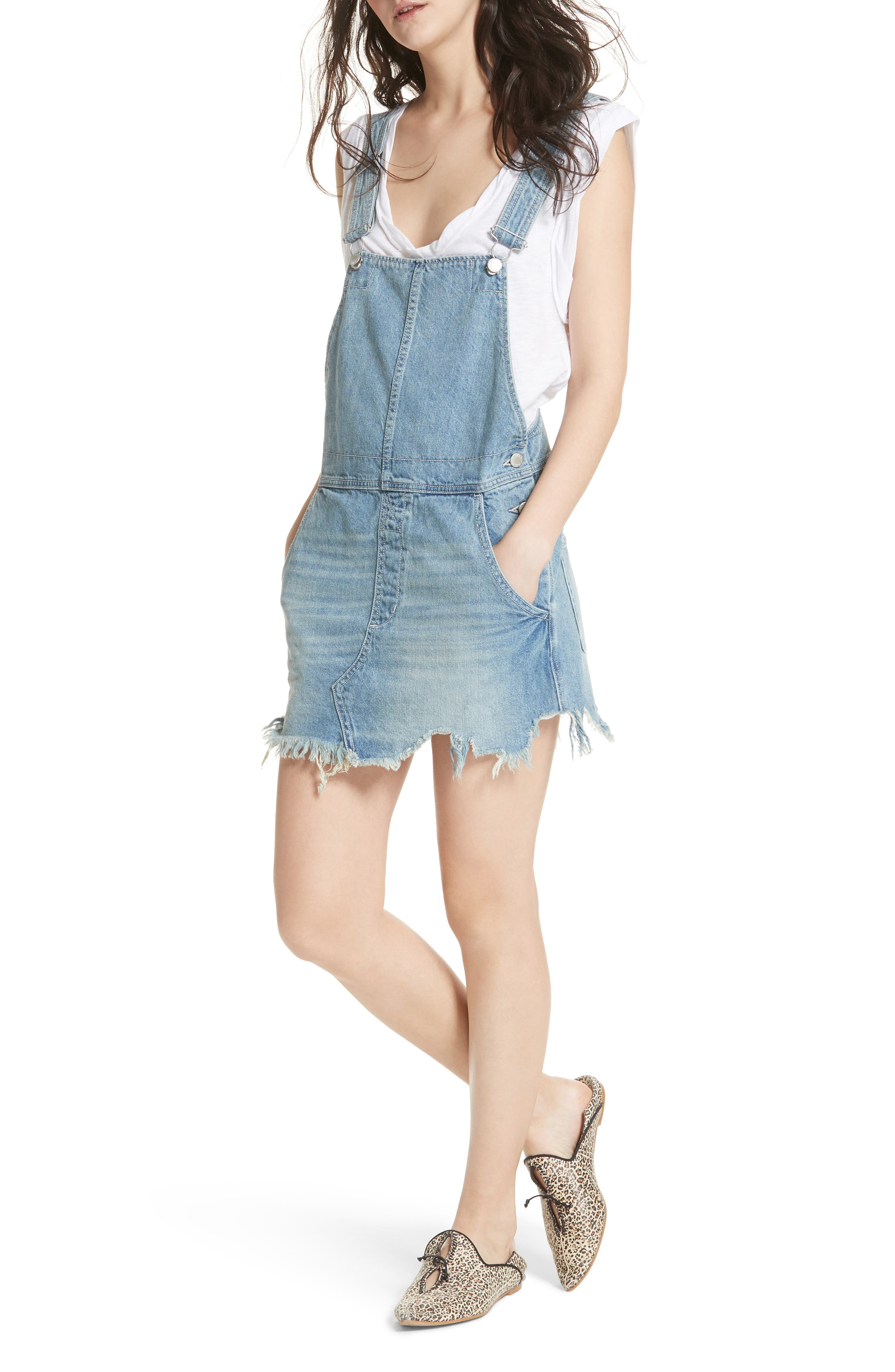 Torn-Up Skirt Overalls,                         Main,                         color, 400
