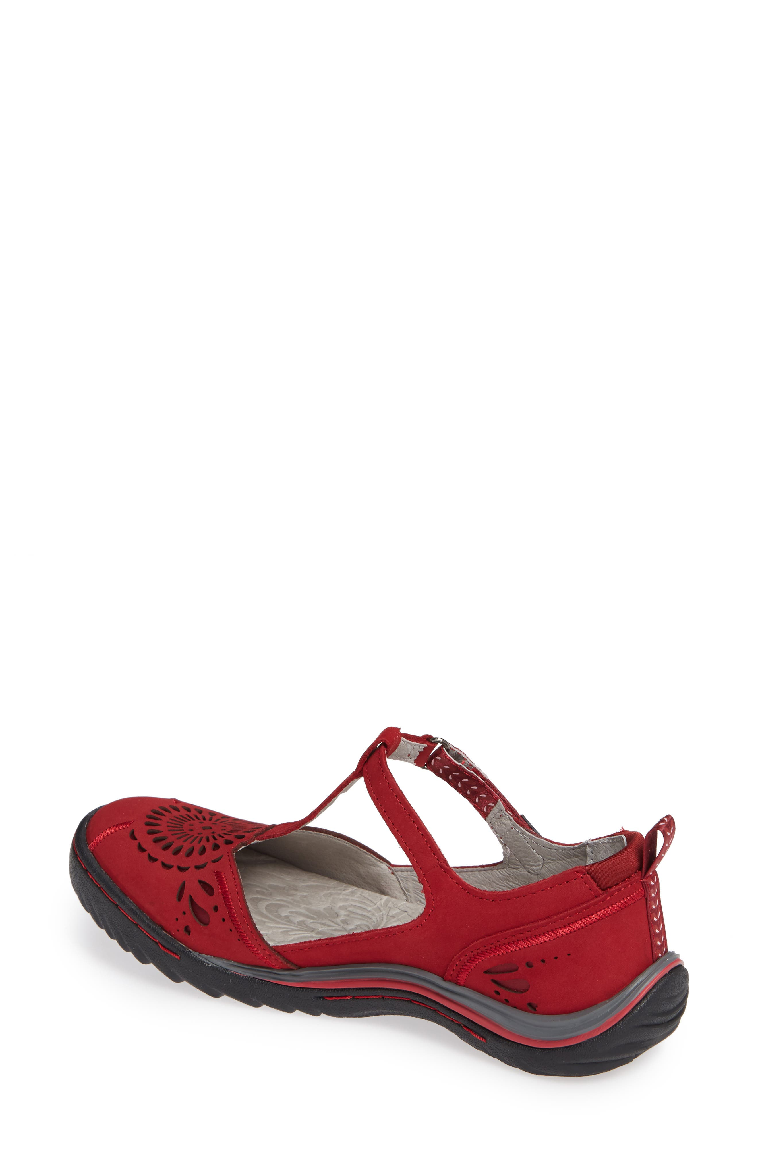 Sunkist Strappy Sneaker,                             Alternate thumbnail 2, color,                             RED/ PETAL NUBUCK LEATHER