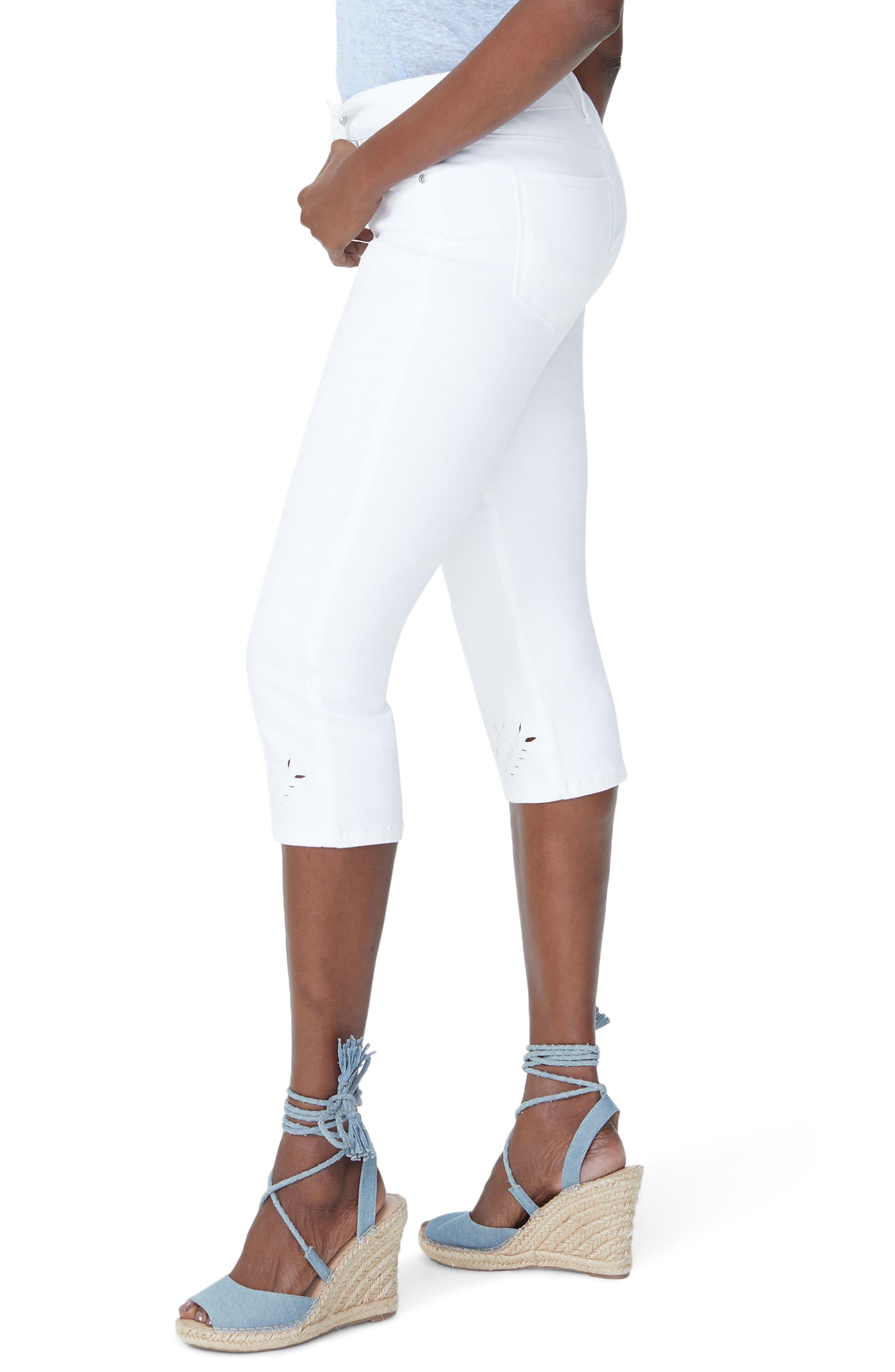 Marilyn Eyelet Hem Stretch Crop Jeans,                             Alternate thumbnail 3, color,