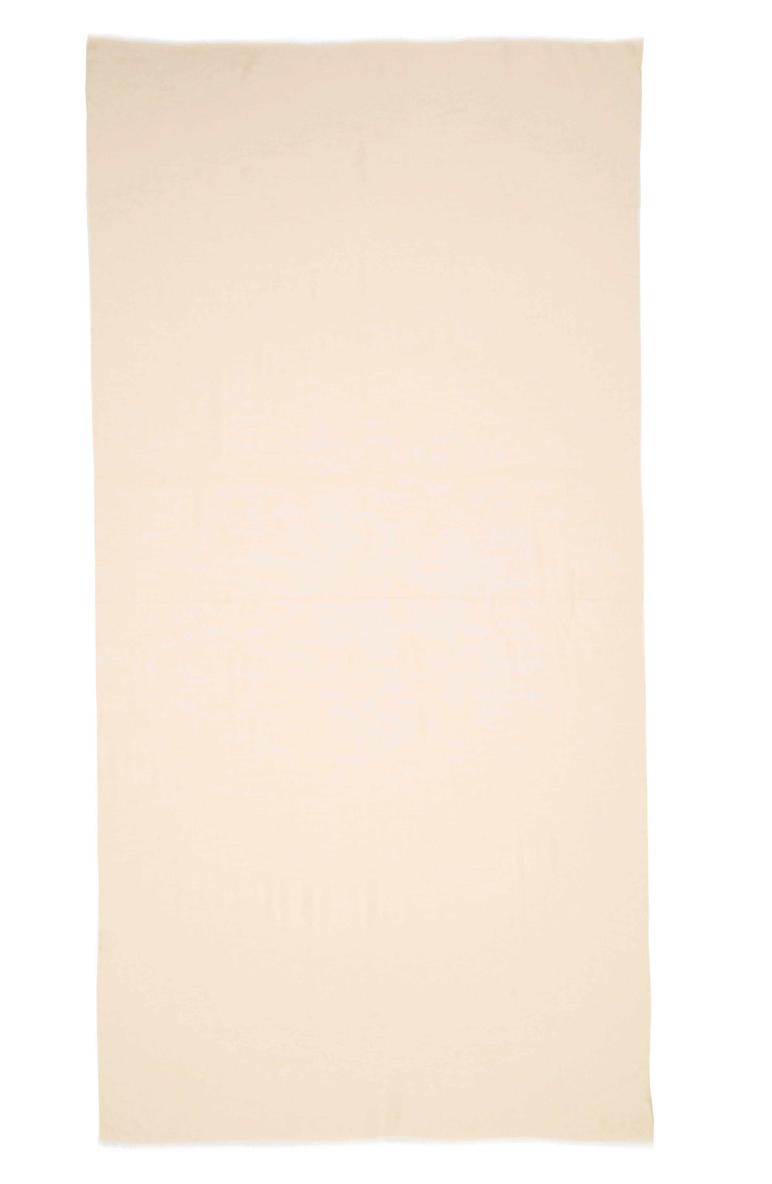Modal Silk Blend Scarf,                             Alternate thumbnail 3, color,                             BEIGE BISCUIT