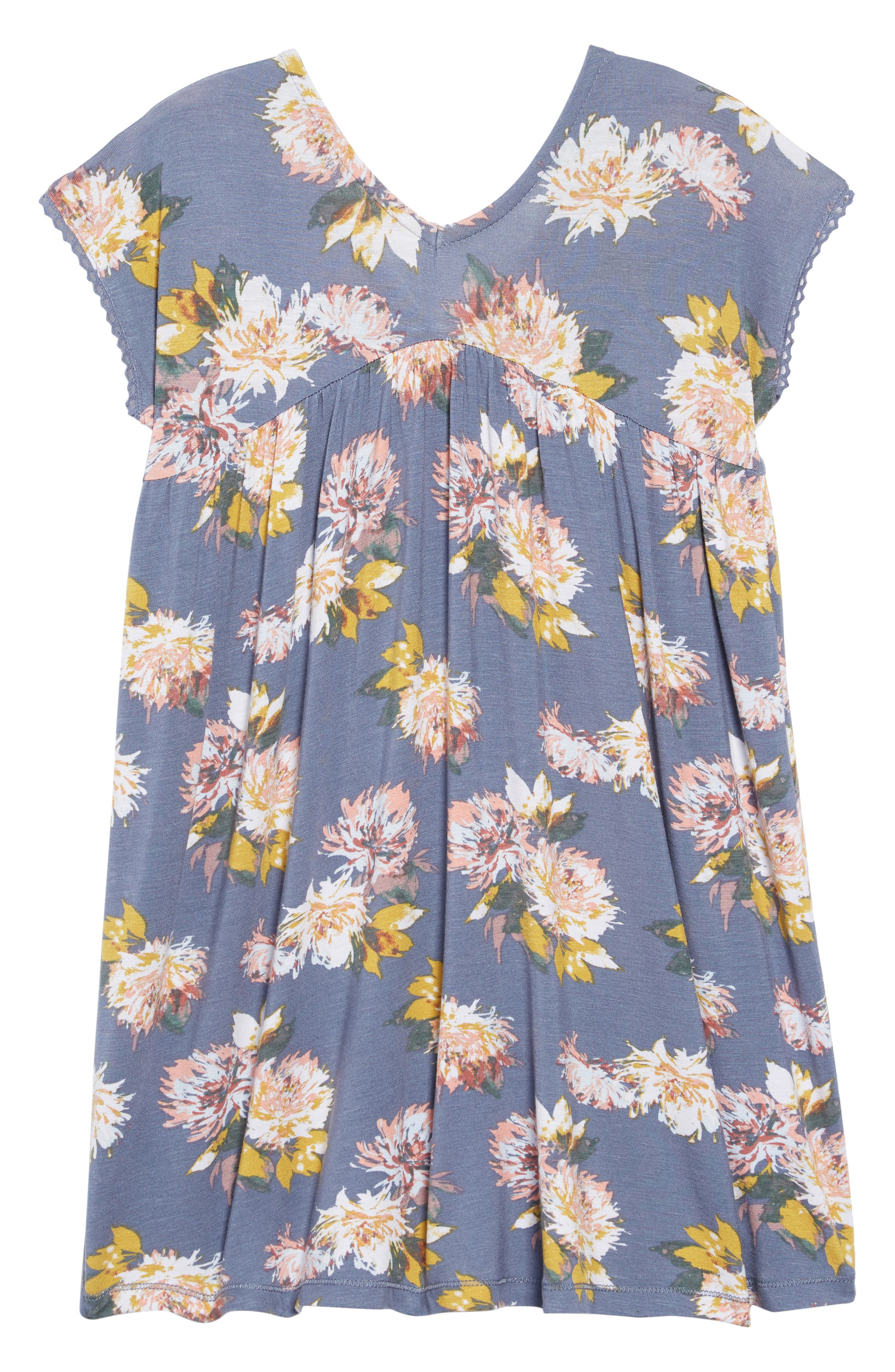Lena Floral Dress,                         Main,                         color, SLATE