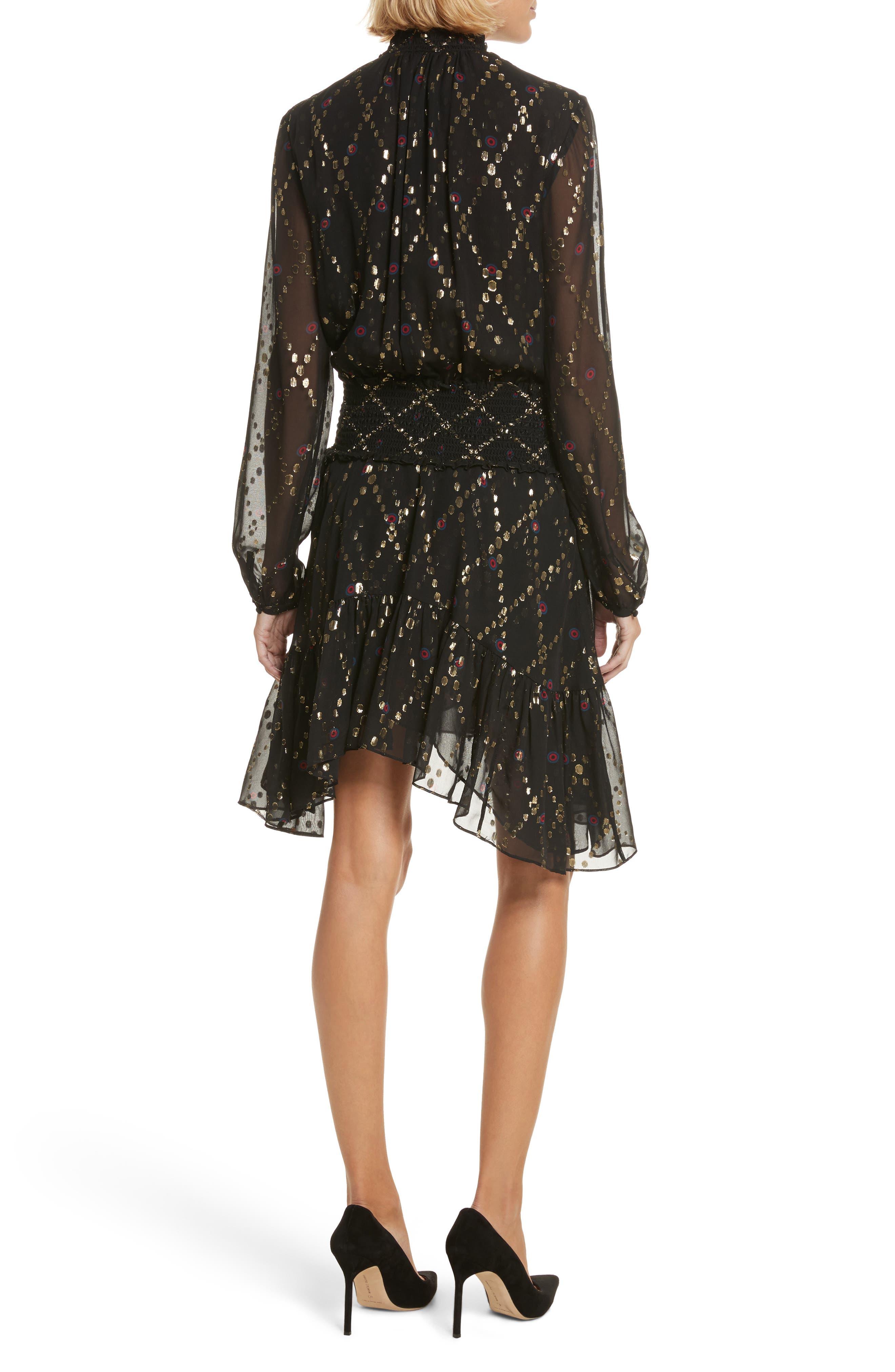 Tula Silk Dress,                             Alternate thumbnail 2, color,                             002