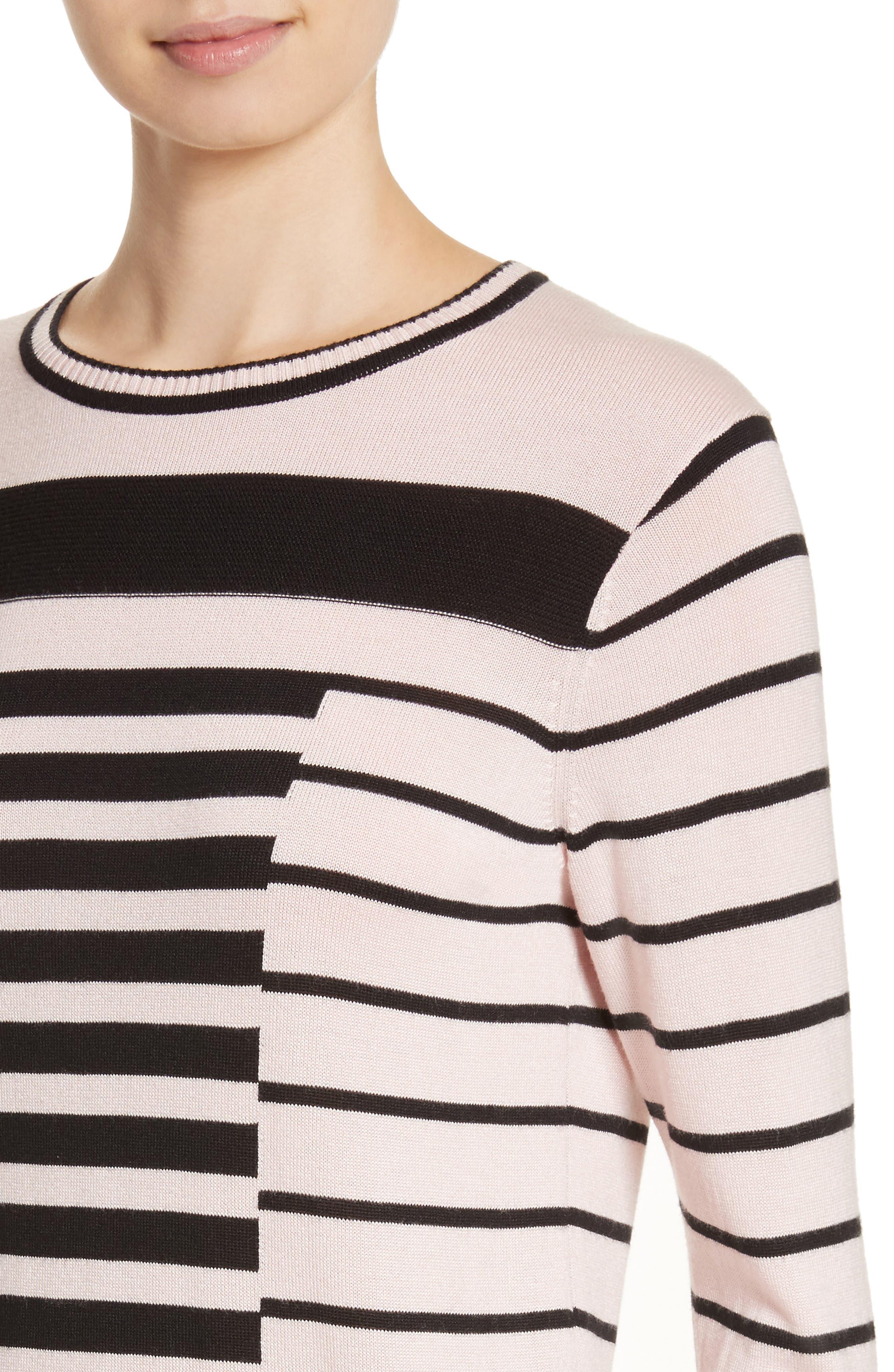 Intarsia Stripe Sweater,                             Alternate thumbnail 8, color,