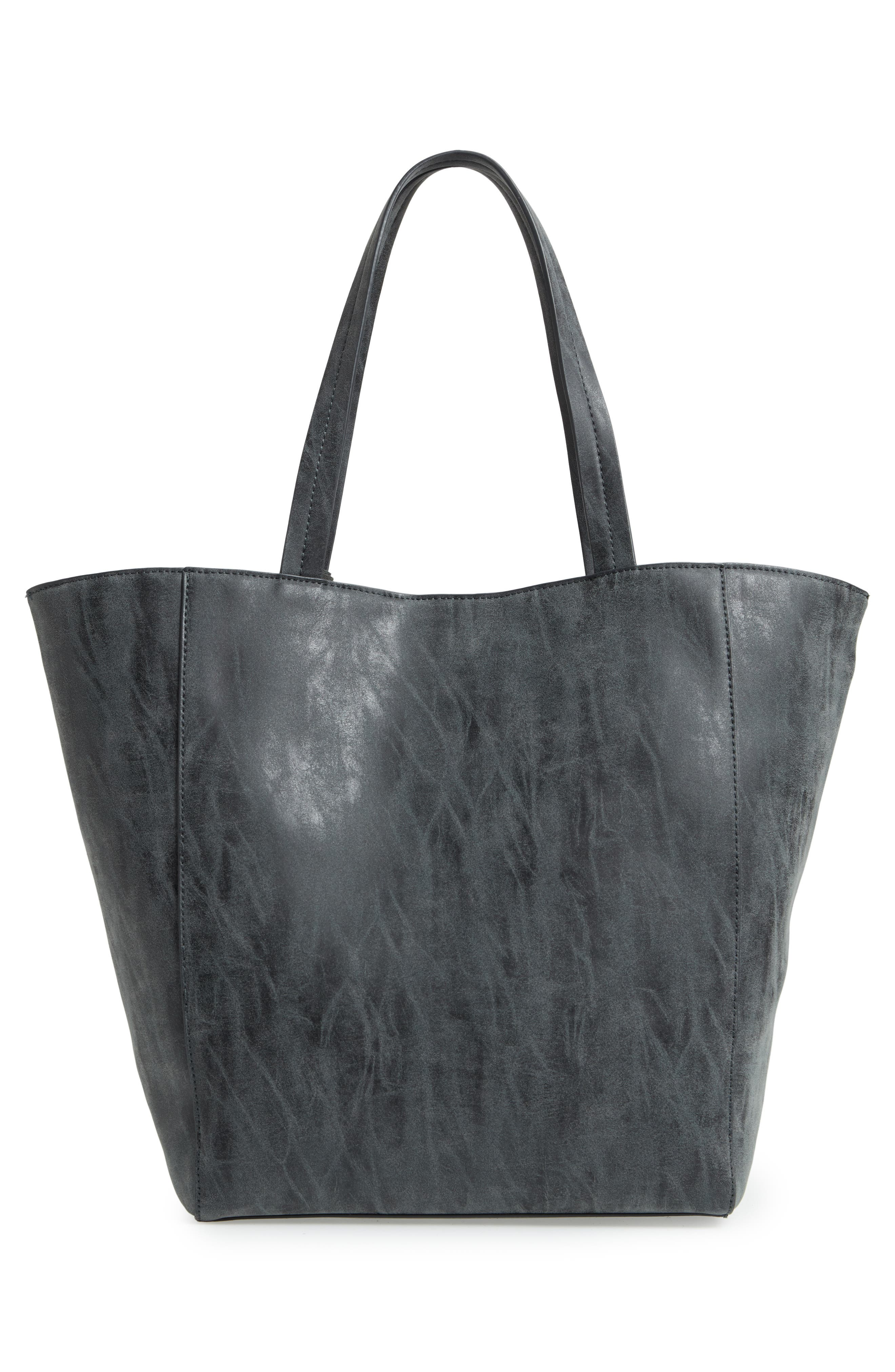 Penny Faux Leather Tote,                             Alternate thumbnail 3, color,                             001