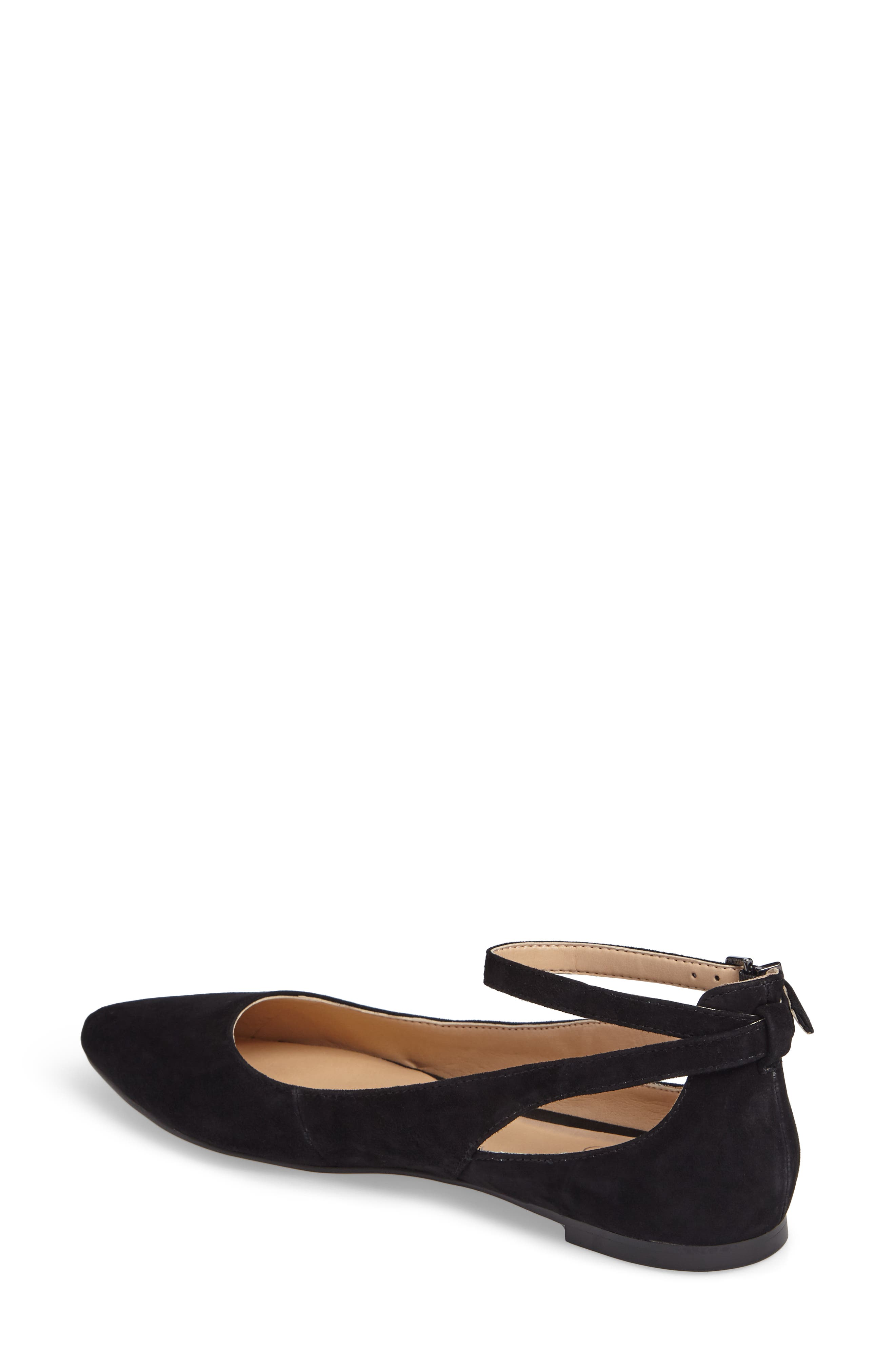 Sylvia Ankle Strap Flat,                             Alternate thumbnail 2, color,                             002